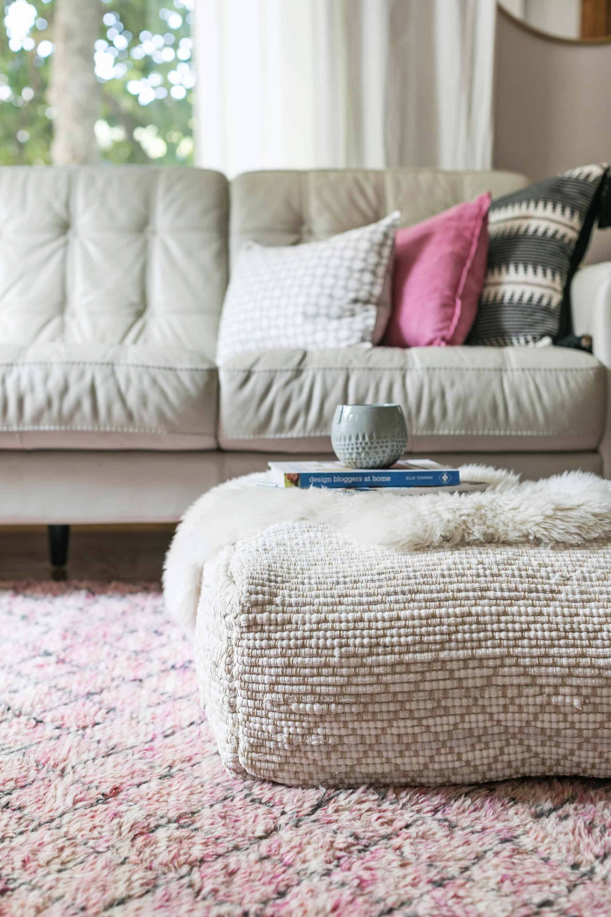 Hand Sched Pouf Diy A Beautiful Mess