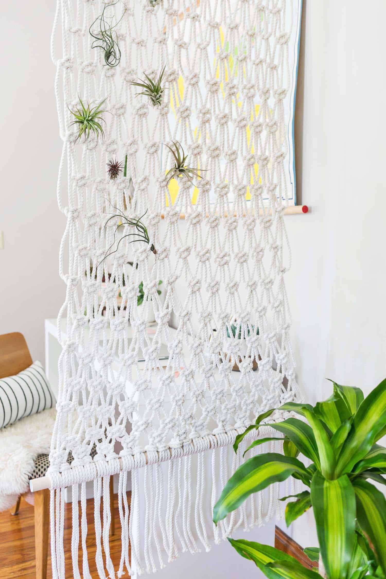 macrame room divider diy a beautiful mess. Black Bedroom Furniture Sets. Home Design Ideas