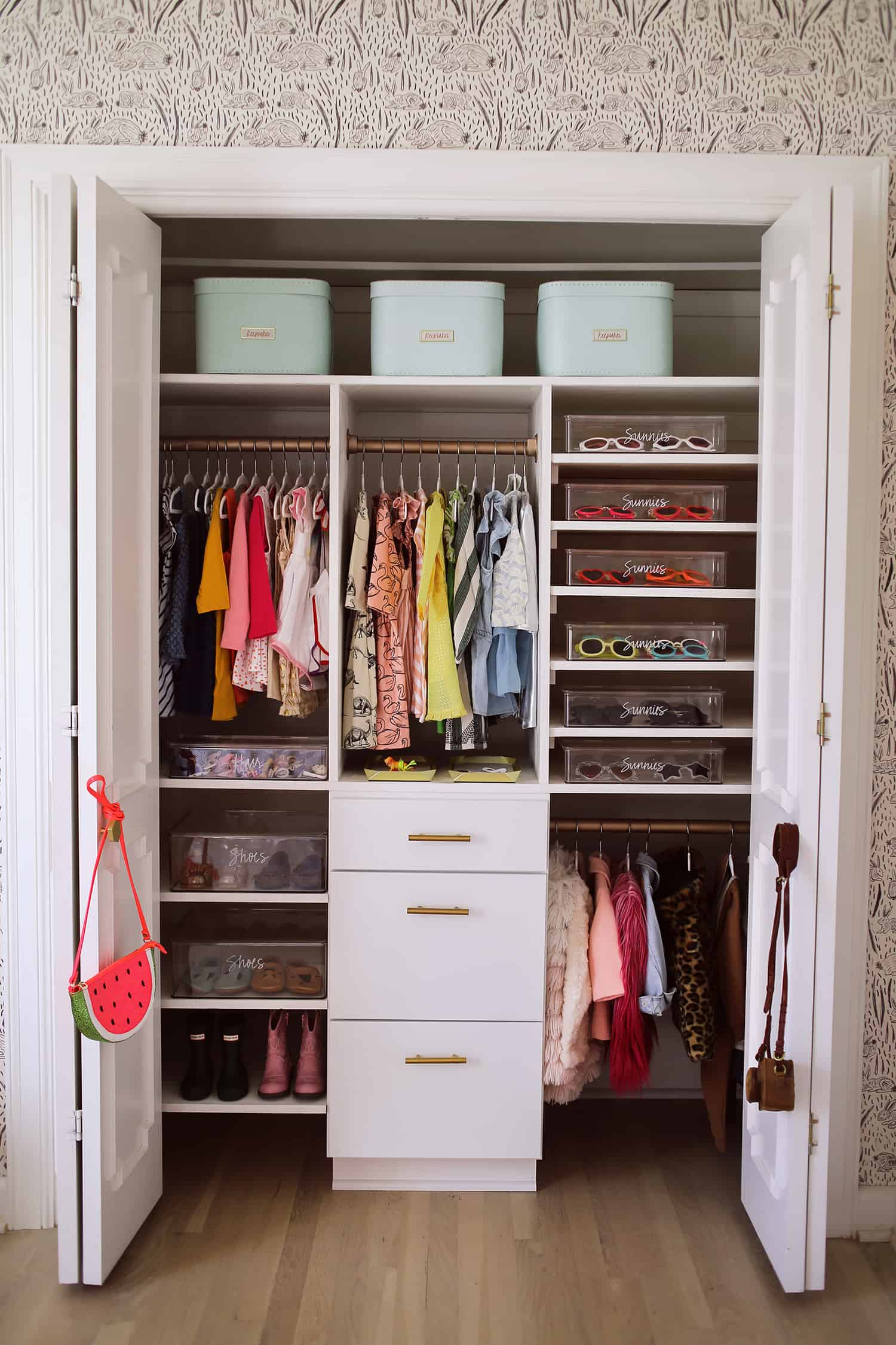 organize small bedroom closet how to organize a baby closet with the home edit a 16573
