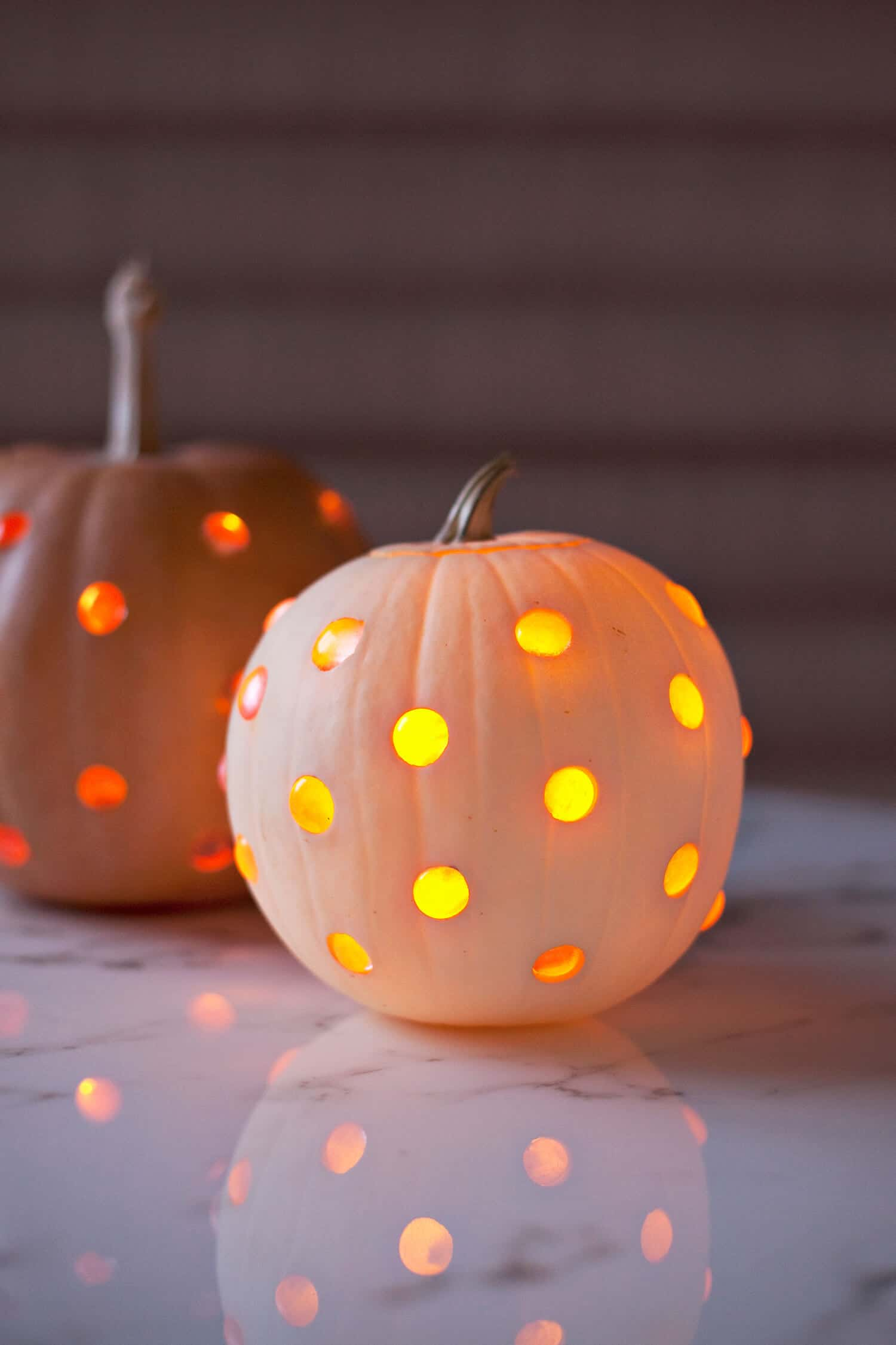 Polka Dot Jack O Lanterns