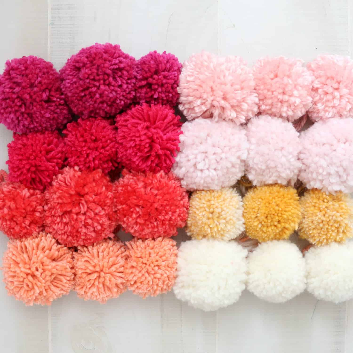 Make your own pom pom basket
