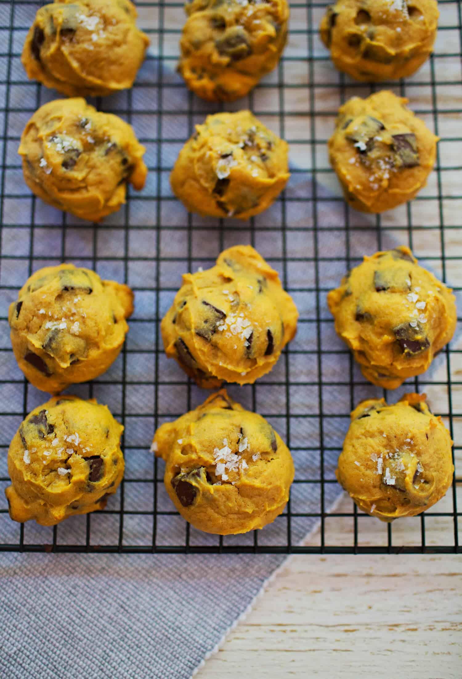 Pumpkin And Tahini Chocolate Chunk Cookies A Beautiful Mess