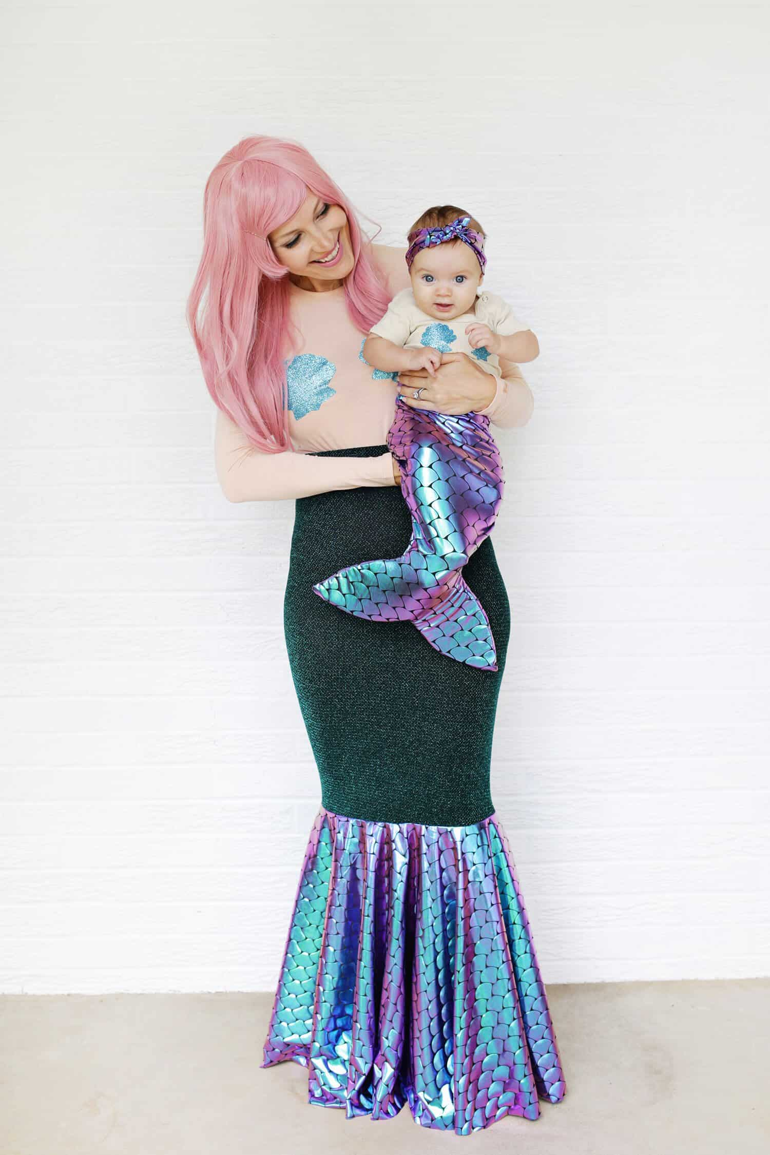 mother + daughter mermaid costume diy - a beautiful mess