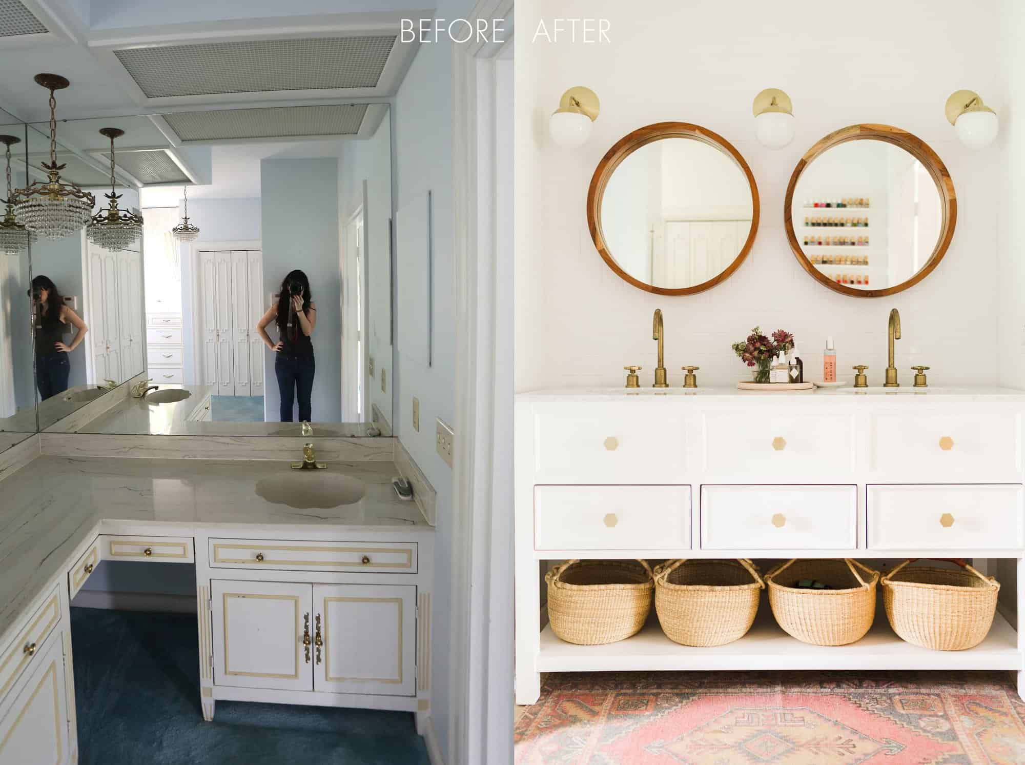 Elsie S Master Bathroom Tour Before After A Beautiful Mess