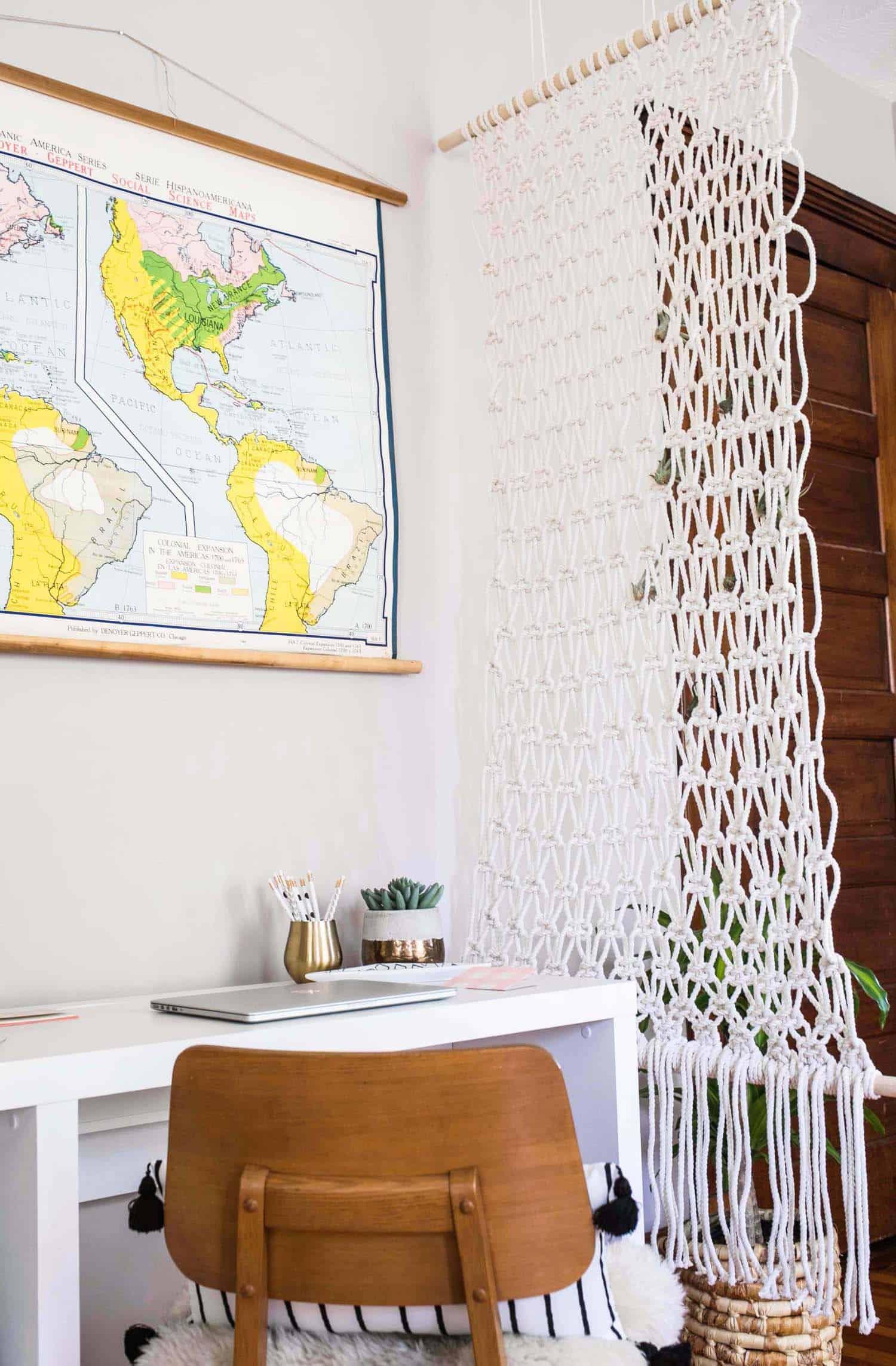 easy hanging planter diy a beautiful mess. Black Bedroom Furniture Sets. Home Design Ideas