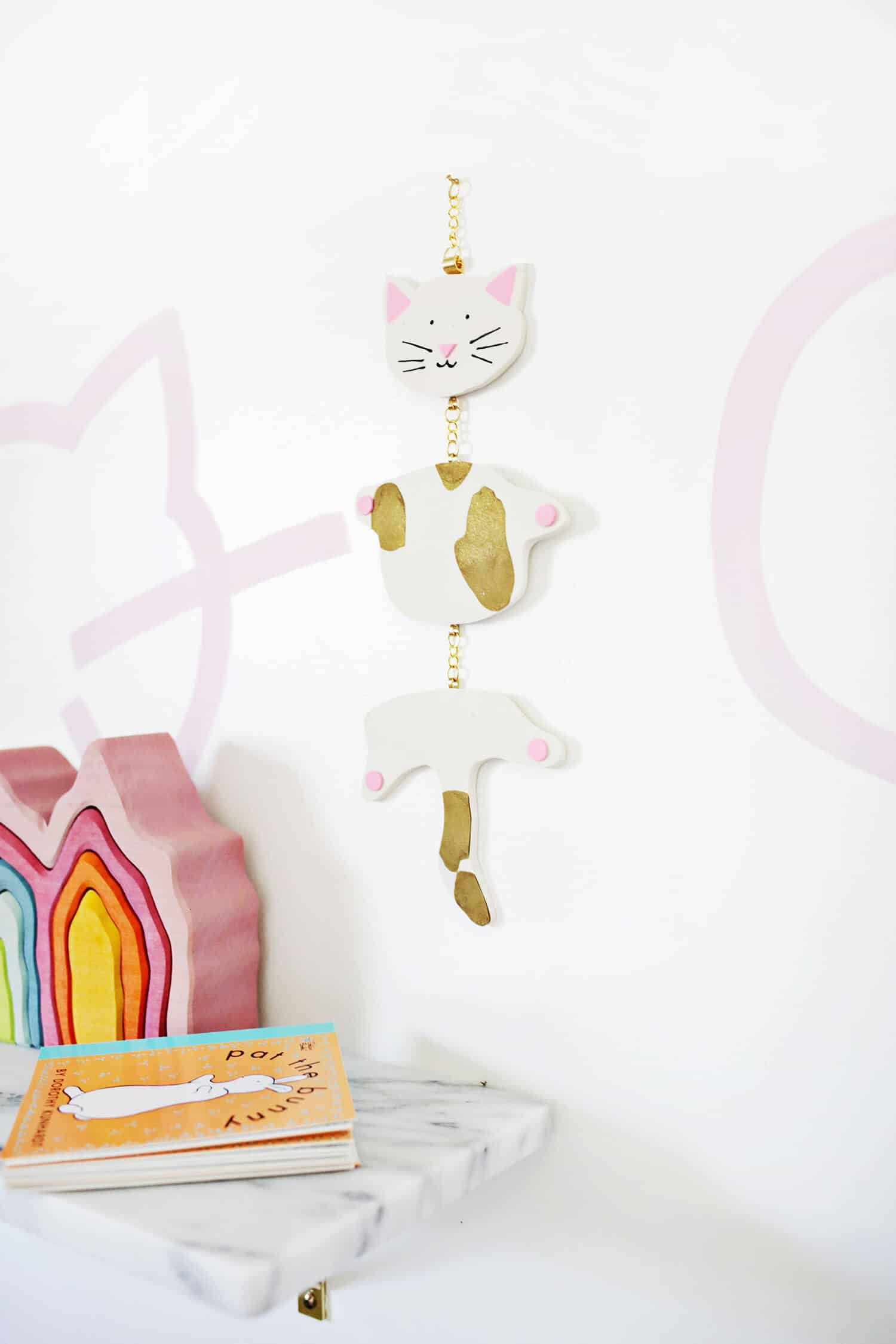 Kitty Clay Mobile DIY