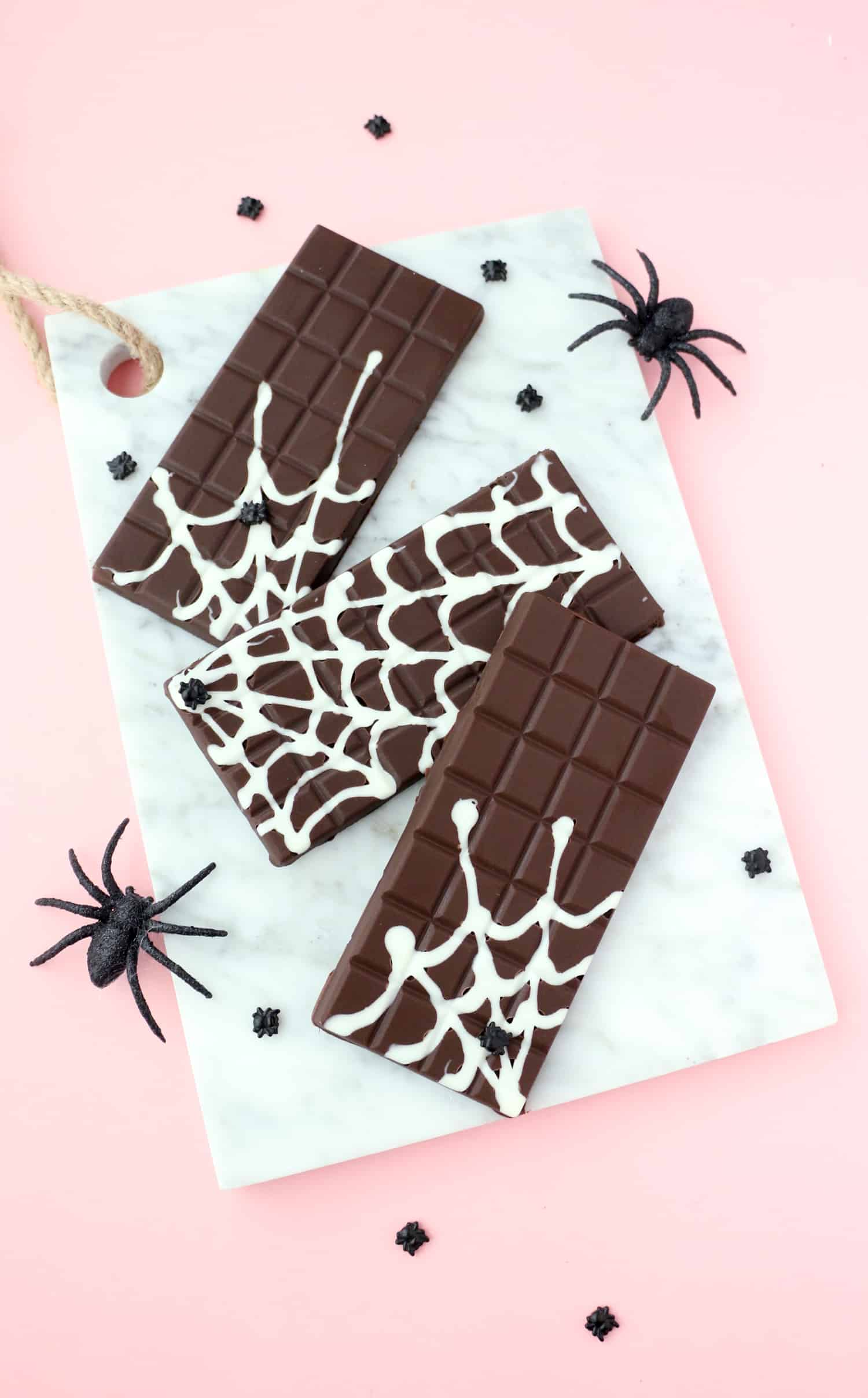 Diy Spider Web Chocolate Bars A Beautiful Mess
