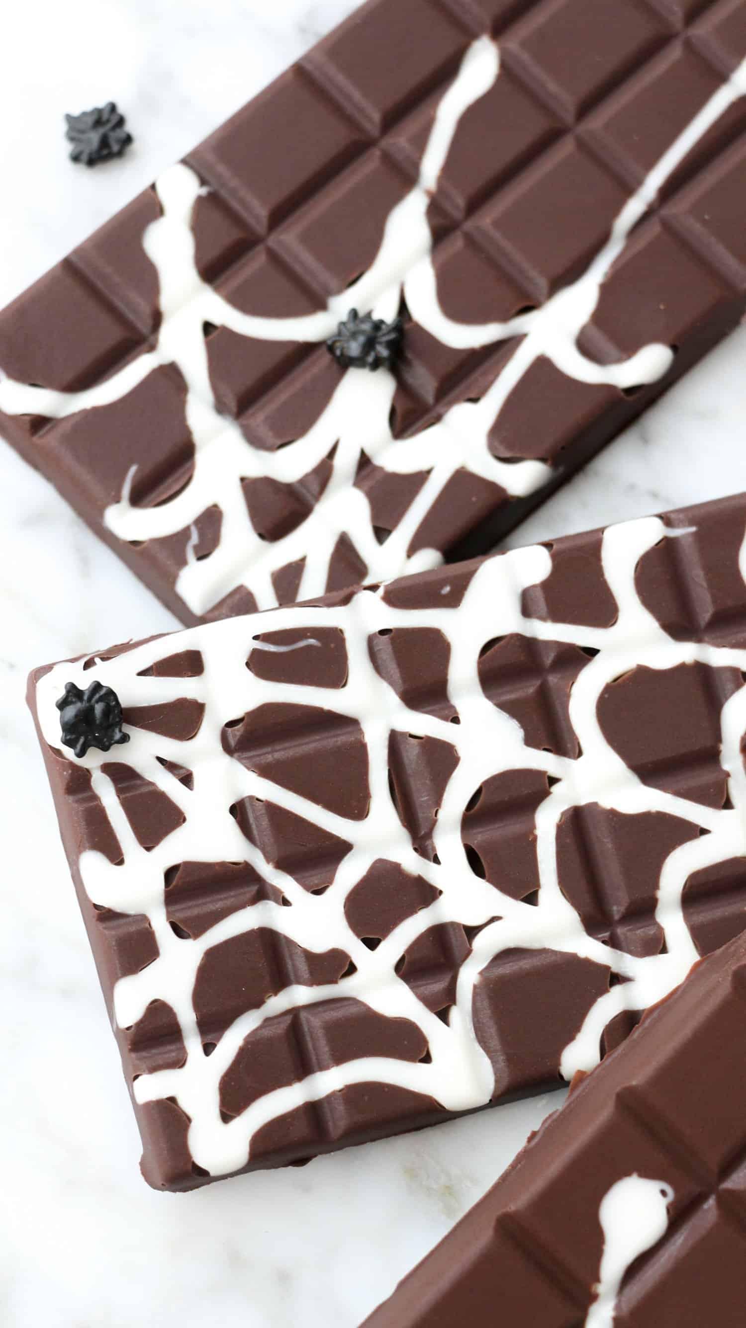 Diy Spider Web Chocolate Bars 6