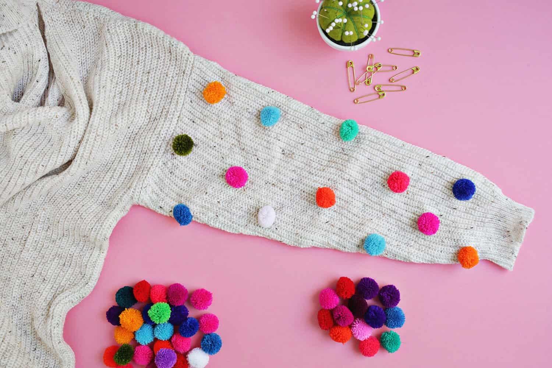 Pom Pom Sweater Diy on Color By Number Love