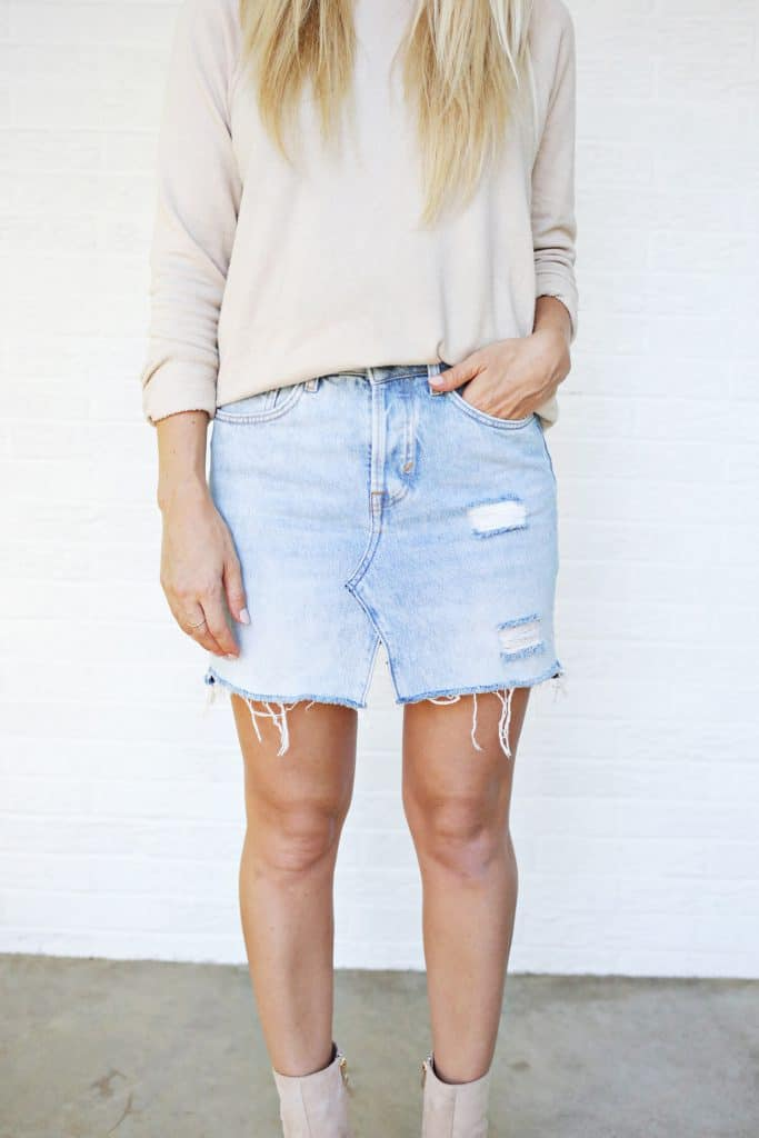 374436118d Make Your Own Jean Skirt! - A Beautiful Mess