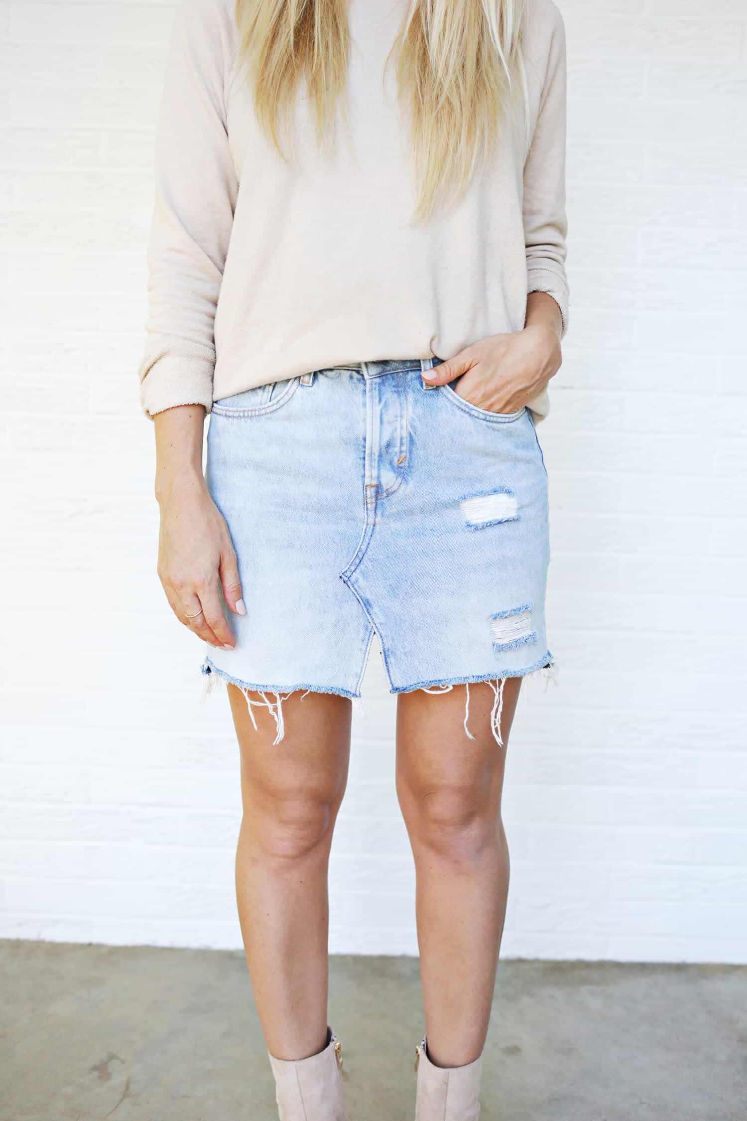 make your own jean skirt a beautiful mess