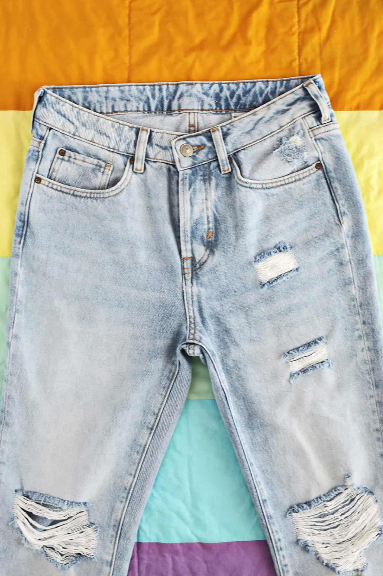 58a4449857d2 ... a pair of jeans that you ve grown a bit tired of or a good method to  customize a skirt if you can t find one the right size color length you  want in the ...