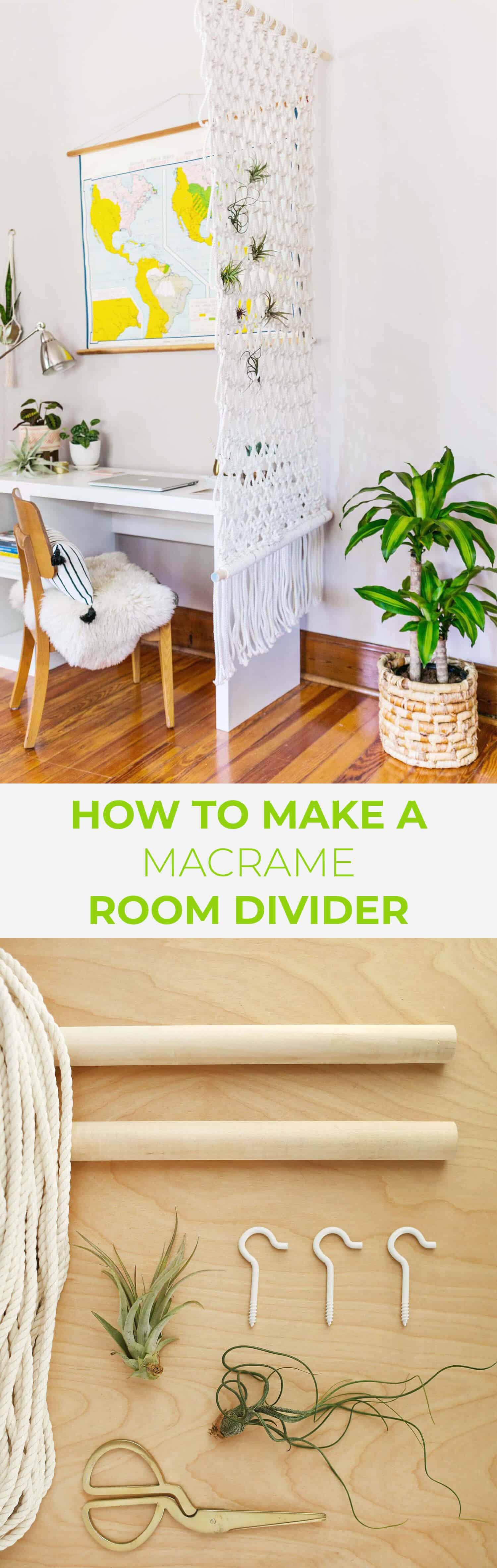 Macrame Room Divider DIY - A Beautiful Mess