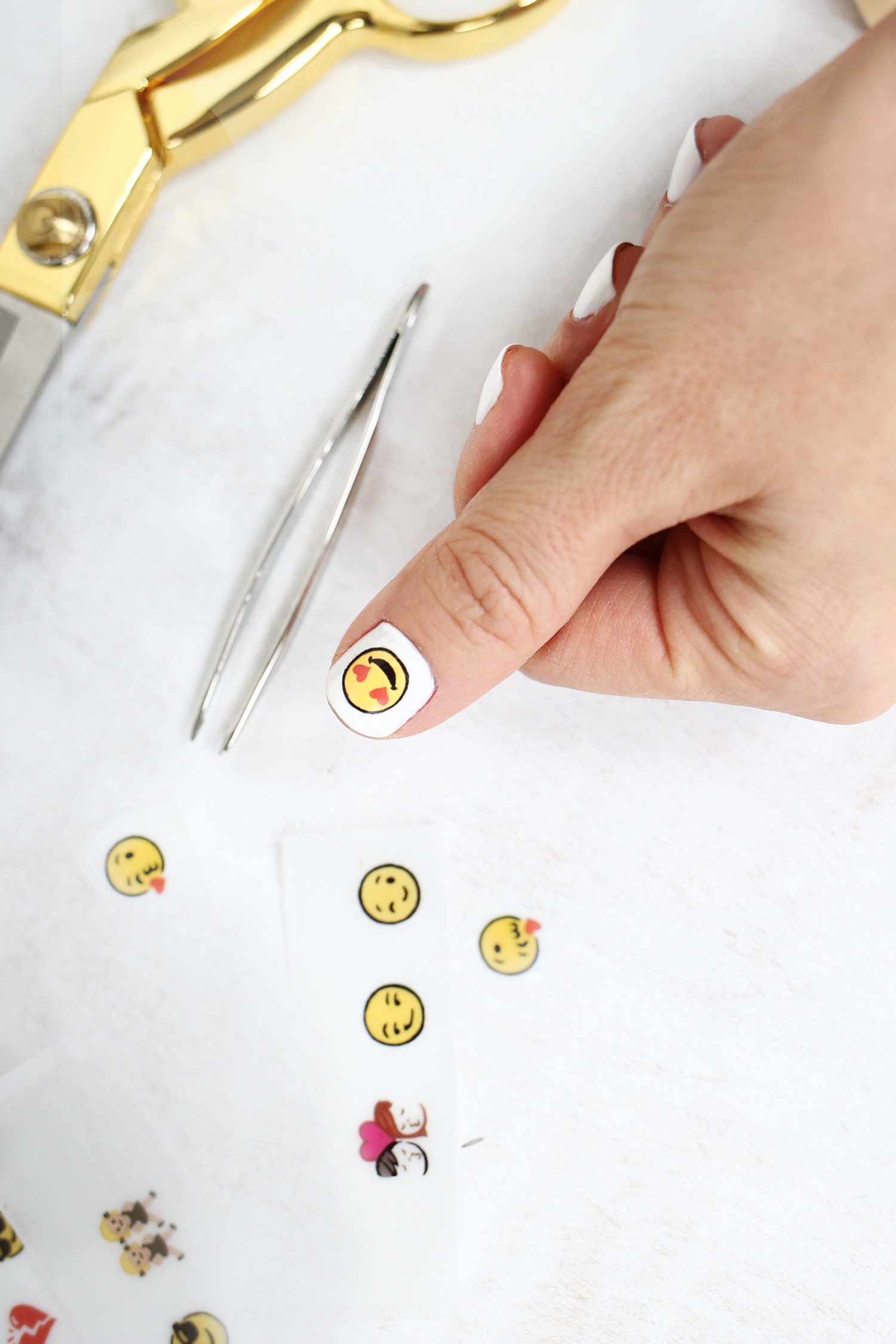 Emoji Nail Decal DIY - A Beautiful Mess