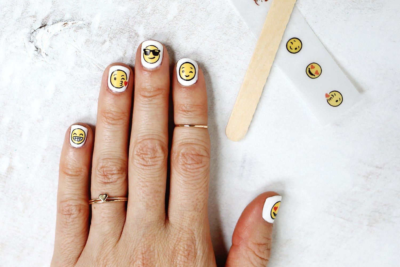 Emoji Nail Decal Diy A Beautiful Mess