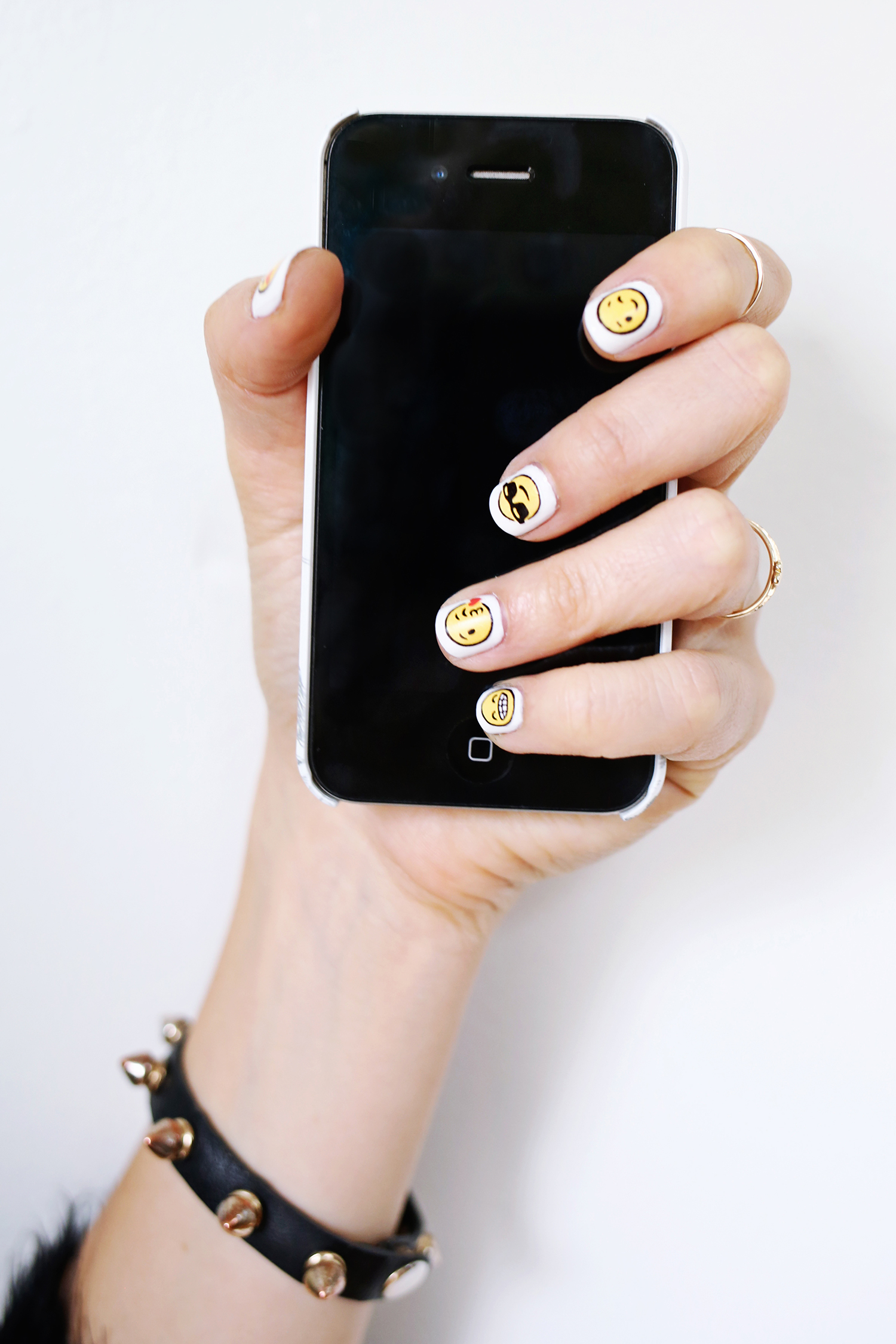 Emoji Nail Decal DIY - A Beautiful Mess