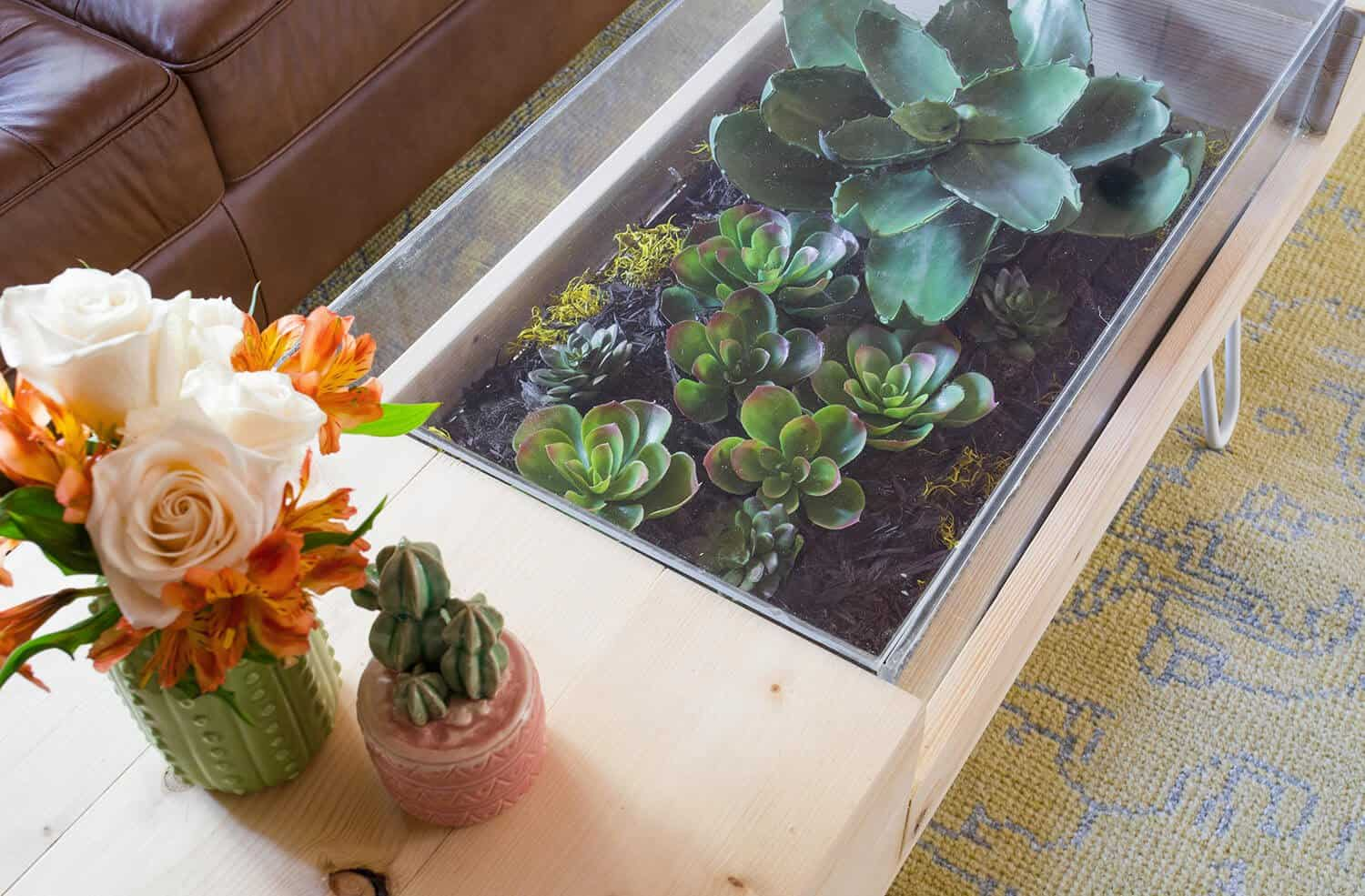 Diy Terrarium Coffee Table A Beautiful Mess