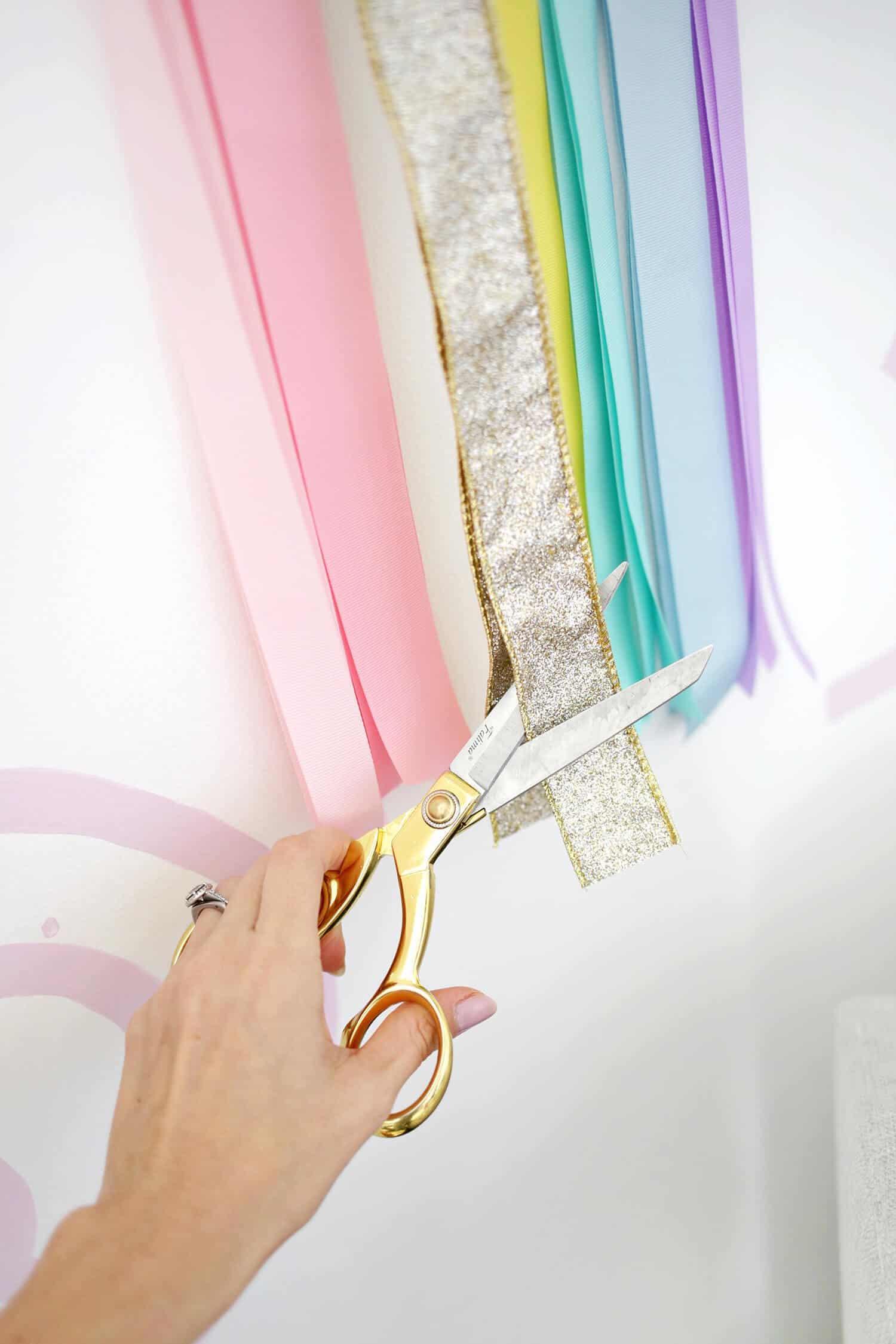 Kinder Band Regenbogen Wandbehang DIY