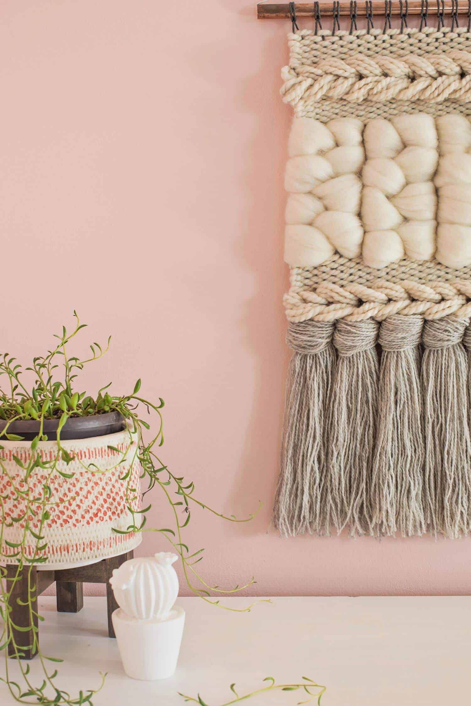 Quick Weave Wall Hanging Diy A Beautiful Mess