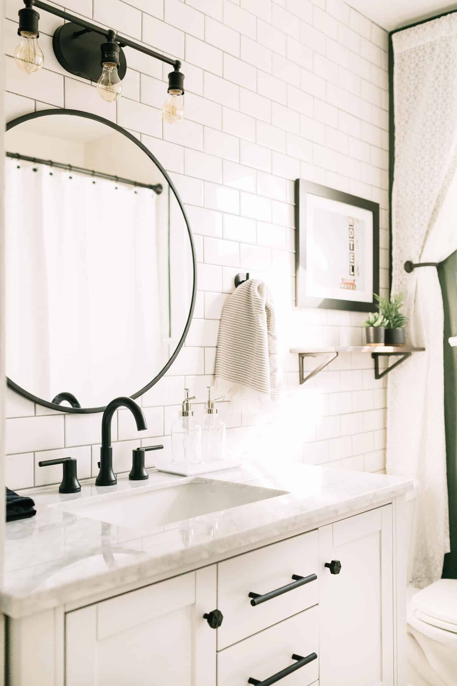 Elsie's Master Bathroom Tour (Before + After) - A Beautiful Mess on