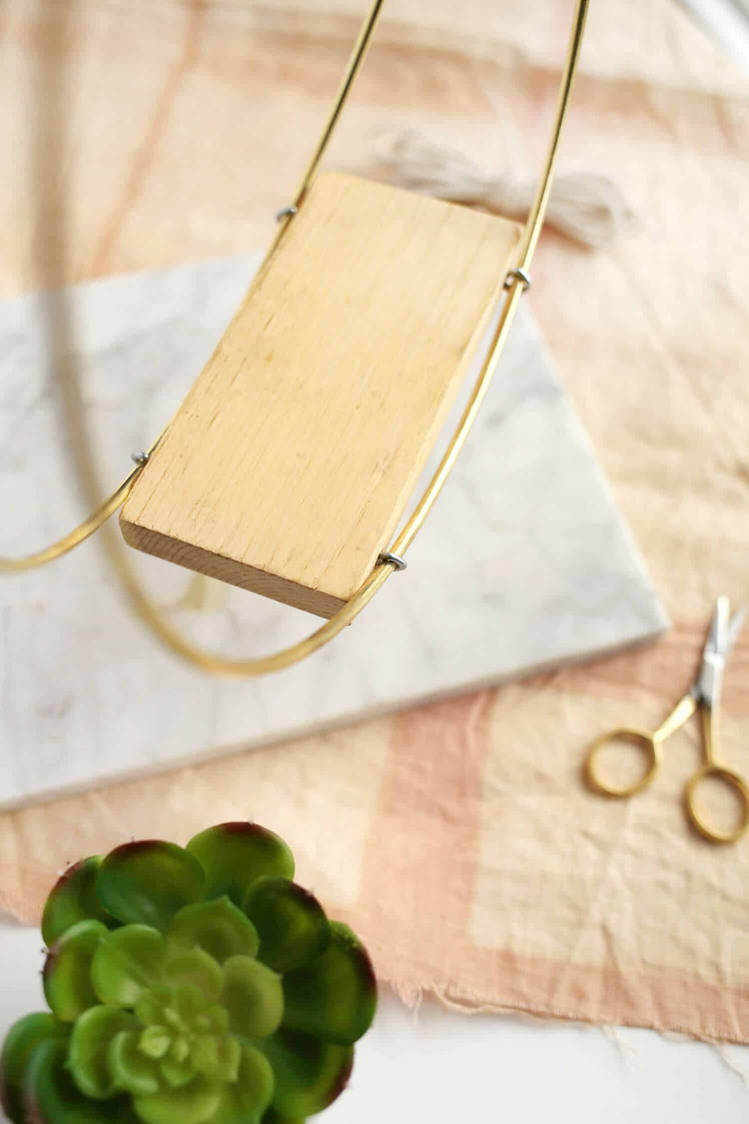 Messingring hängender Pflanzer DIY