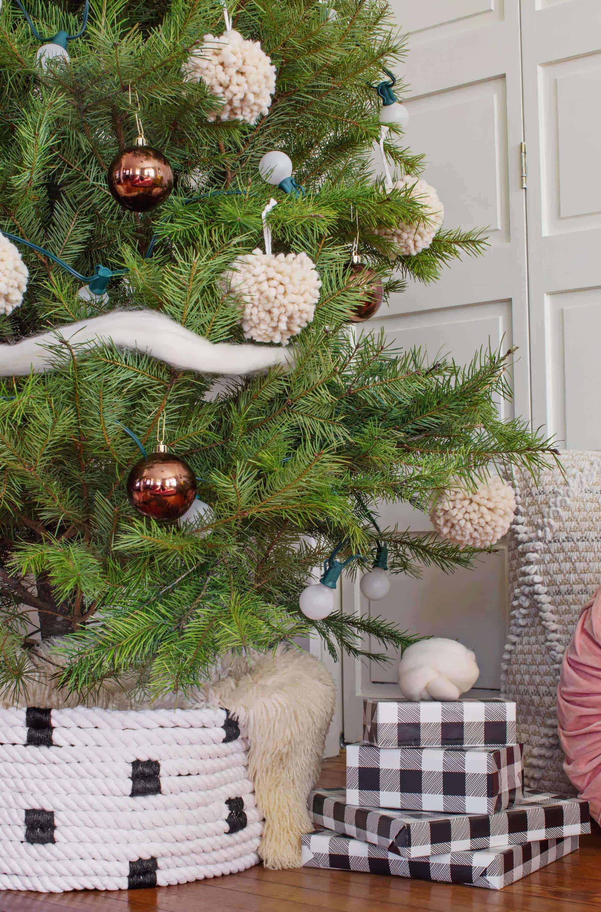 Seil-Weihnachtsbaum-Kragen DIY