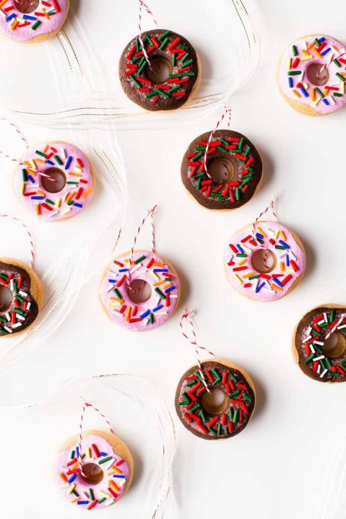 DIY Salt Dough Donut Ornaments - A Beautiful Mess