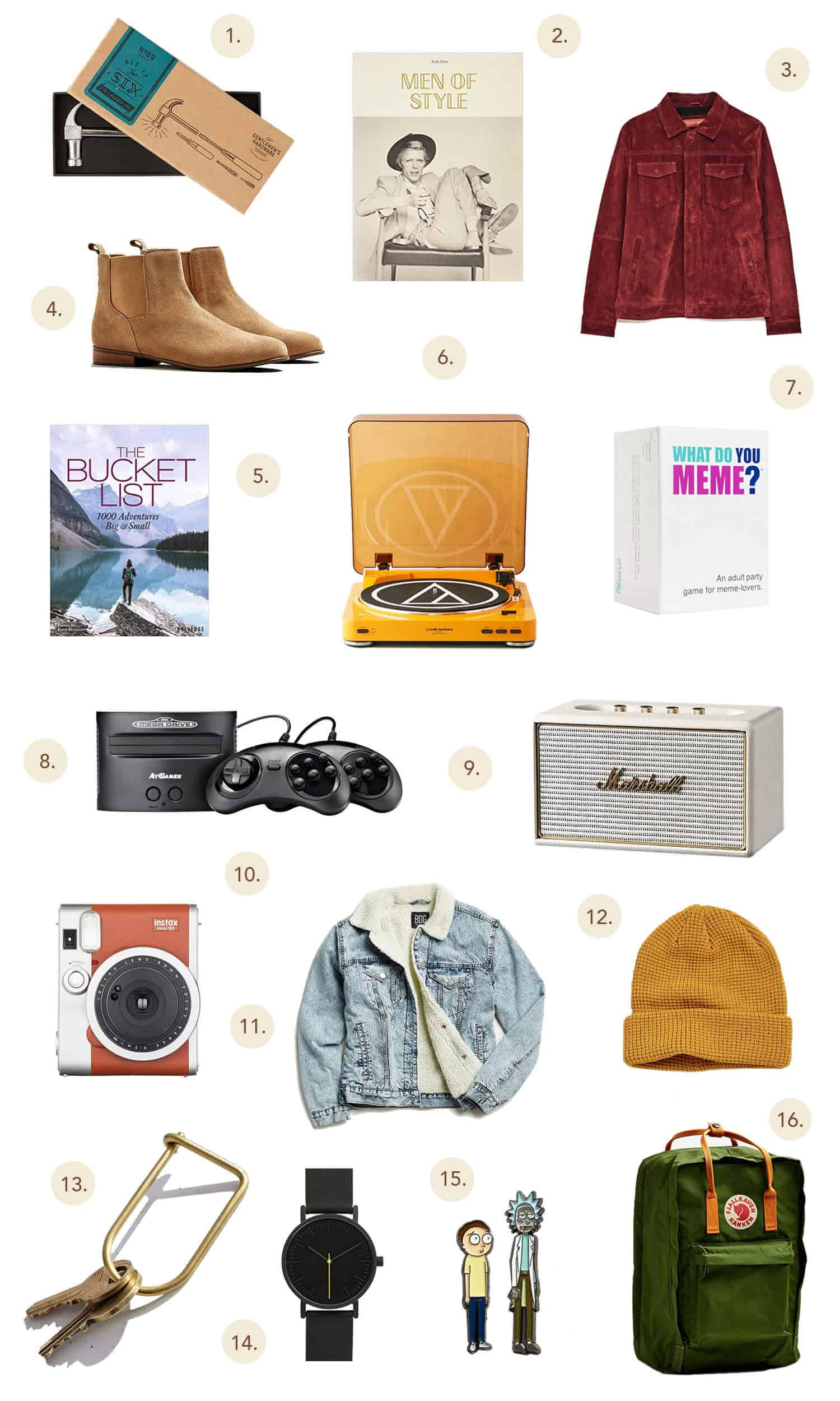 Holiday Gift Guide For Dudes! - A Beautiful Mess