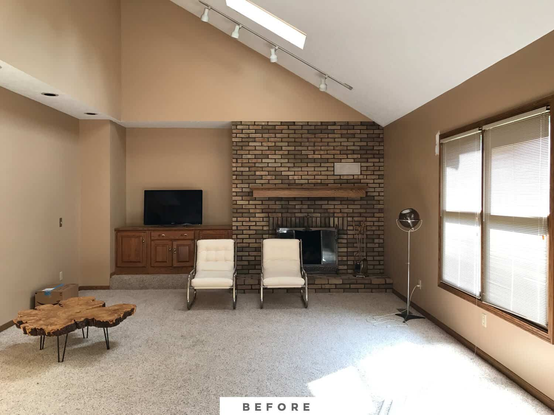 MandiMakes living room makeover before