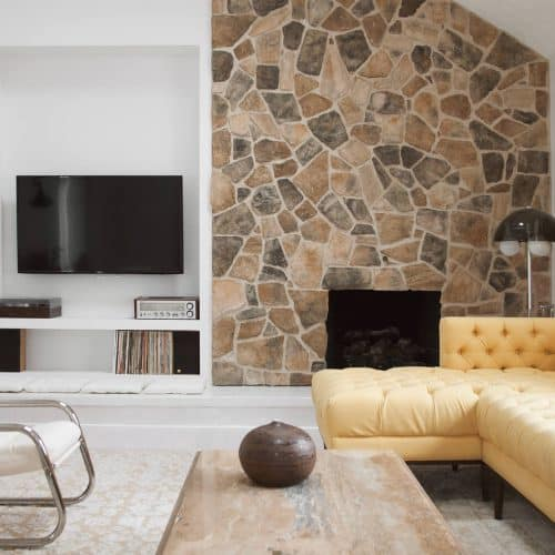fireplace wall makeover