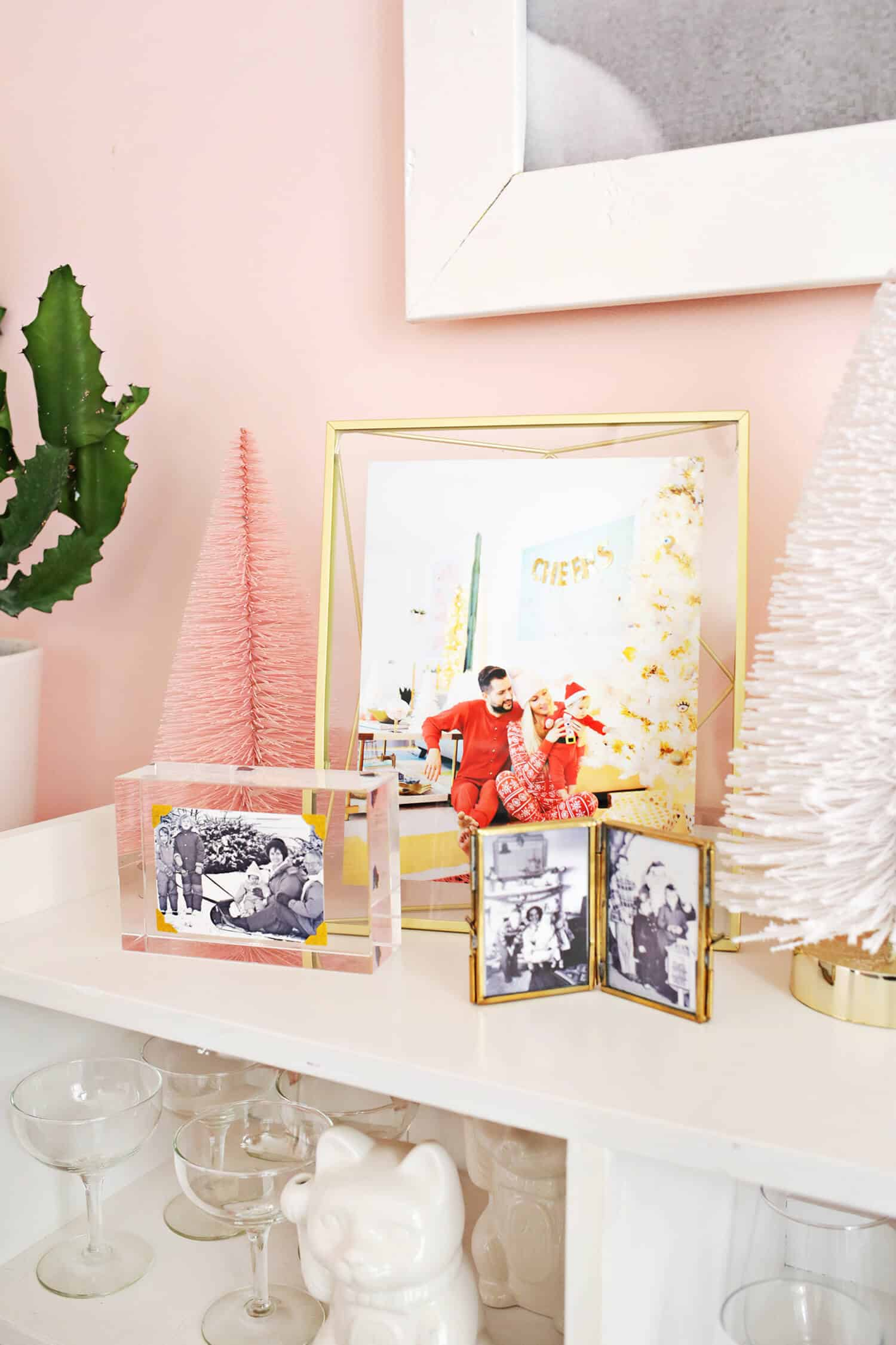 Try This: Family Photo Christmas Display - A Beautiful Mess