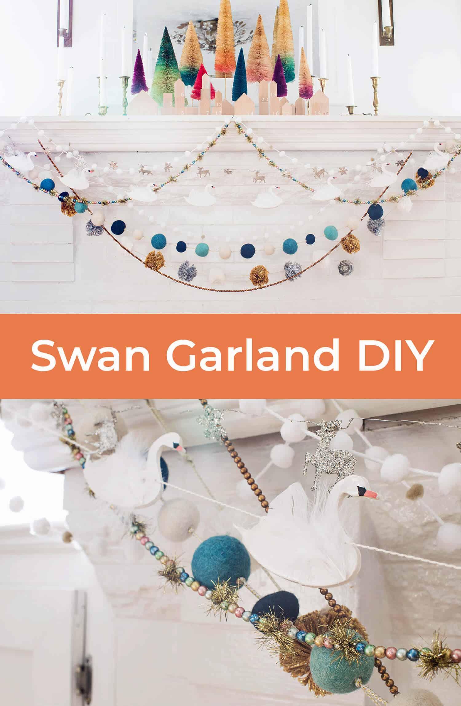 DIY Schwan Garland