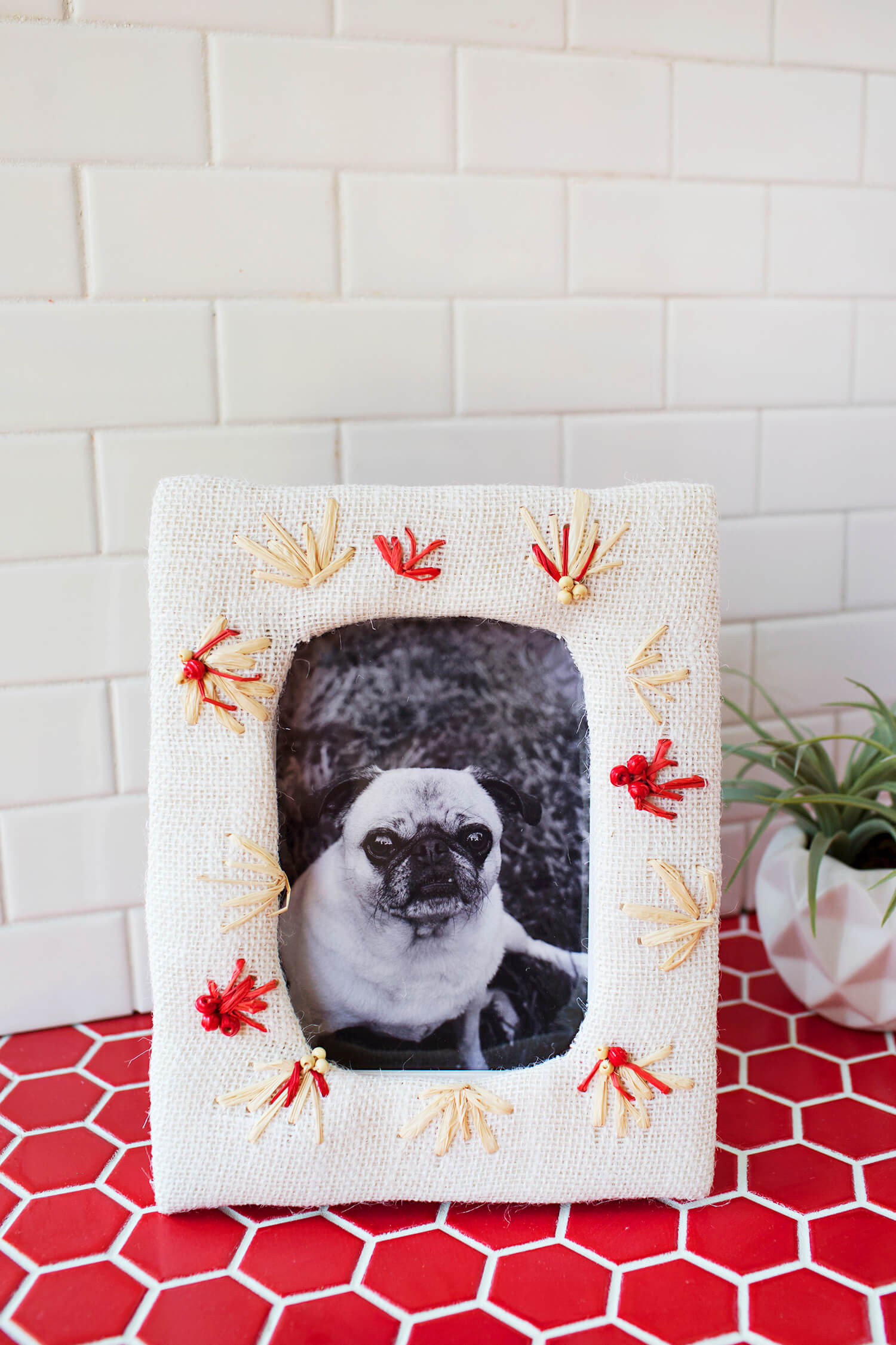DIY Embroidered Photo Frame - A Beautiful Mess