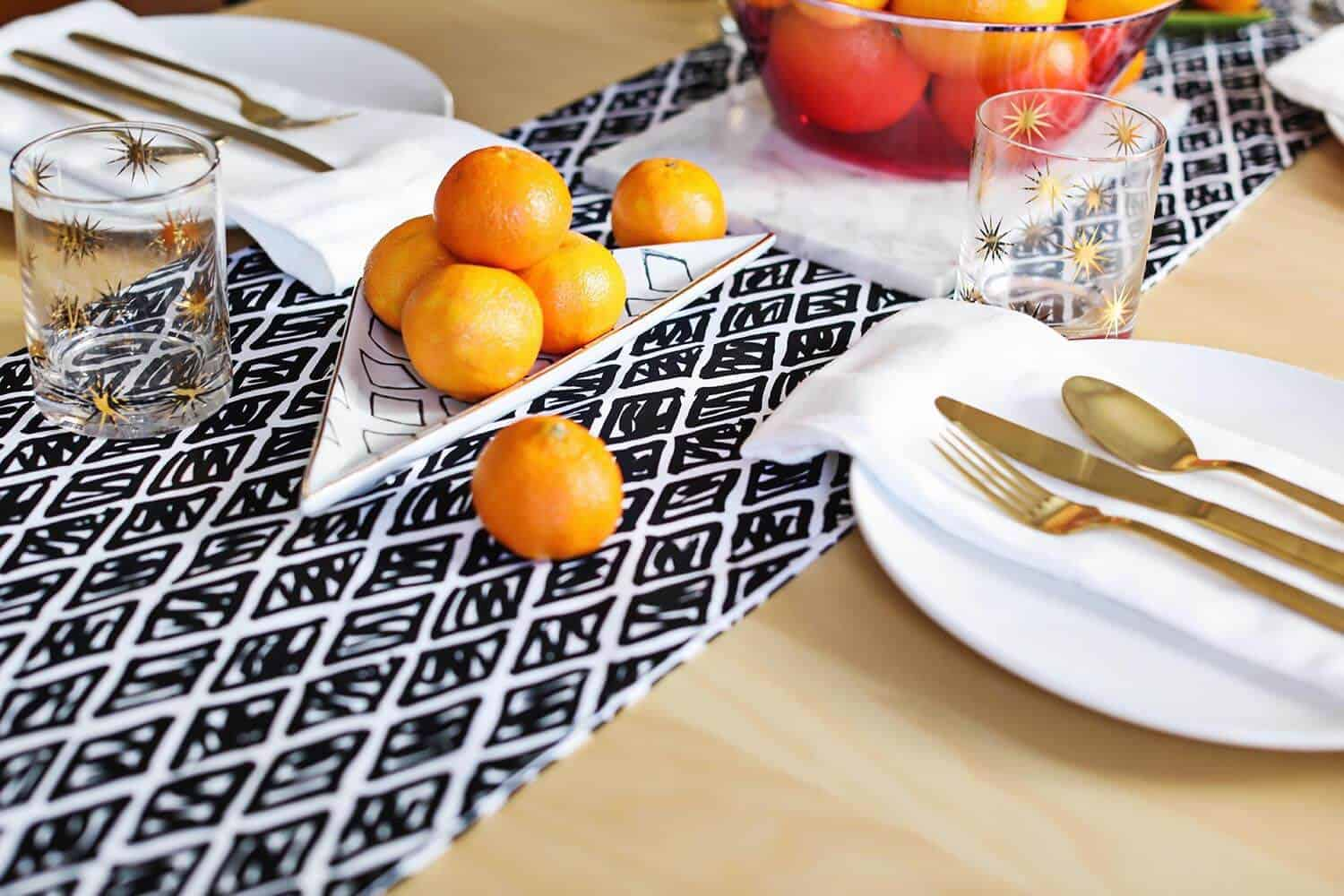 If Youu0027re Feeling Brave, You Can Even Customize Your Table Runner With  Pom Poms ...