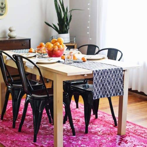 DIY Modern Table Runner