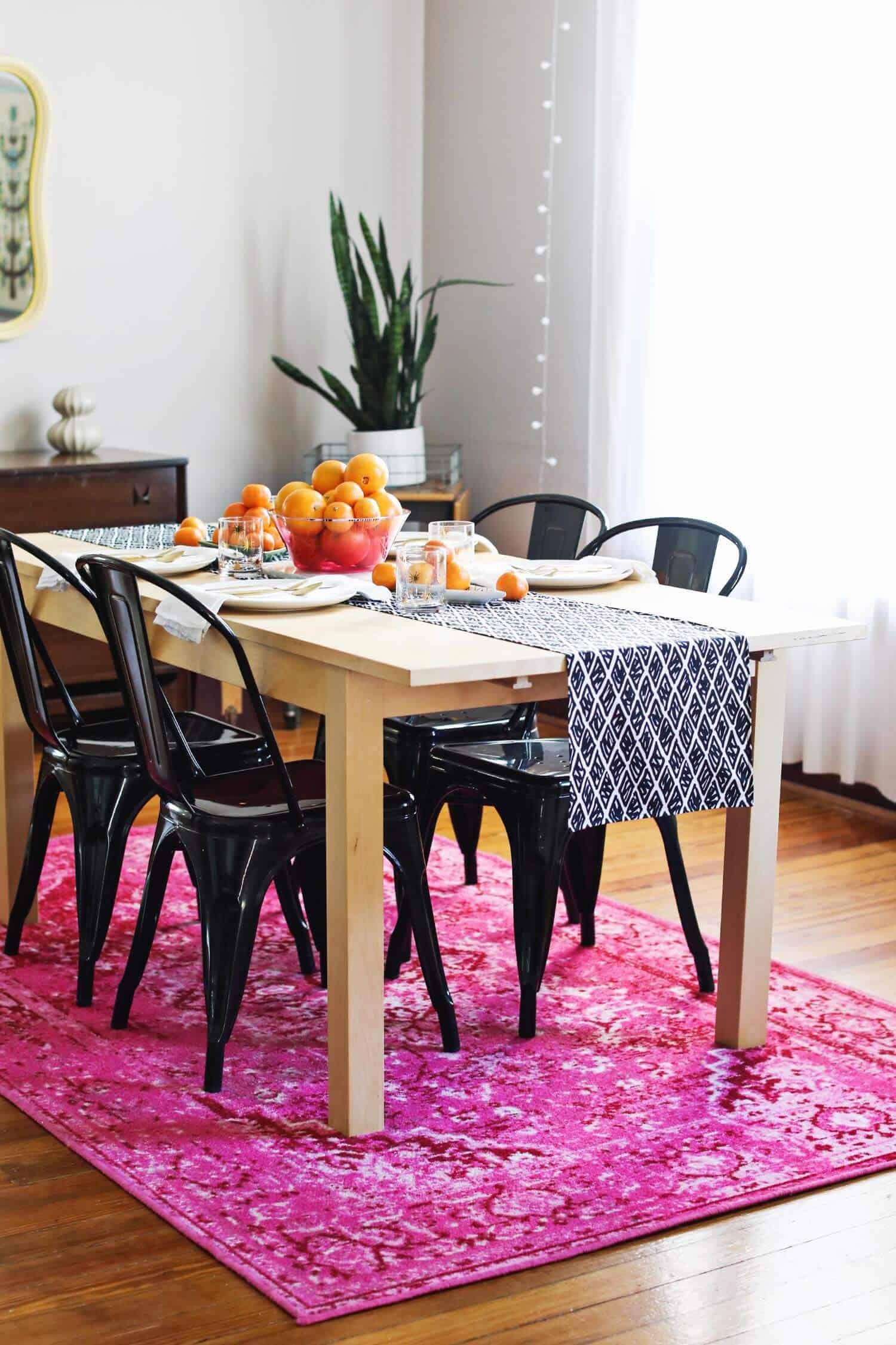 Diy Modern Table Runner A Beautiful Mess