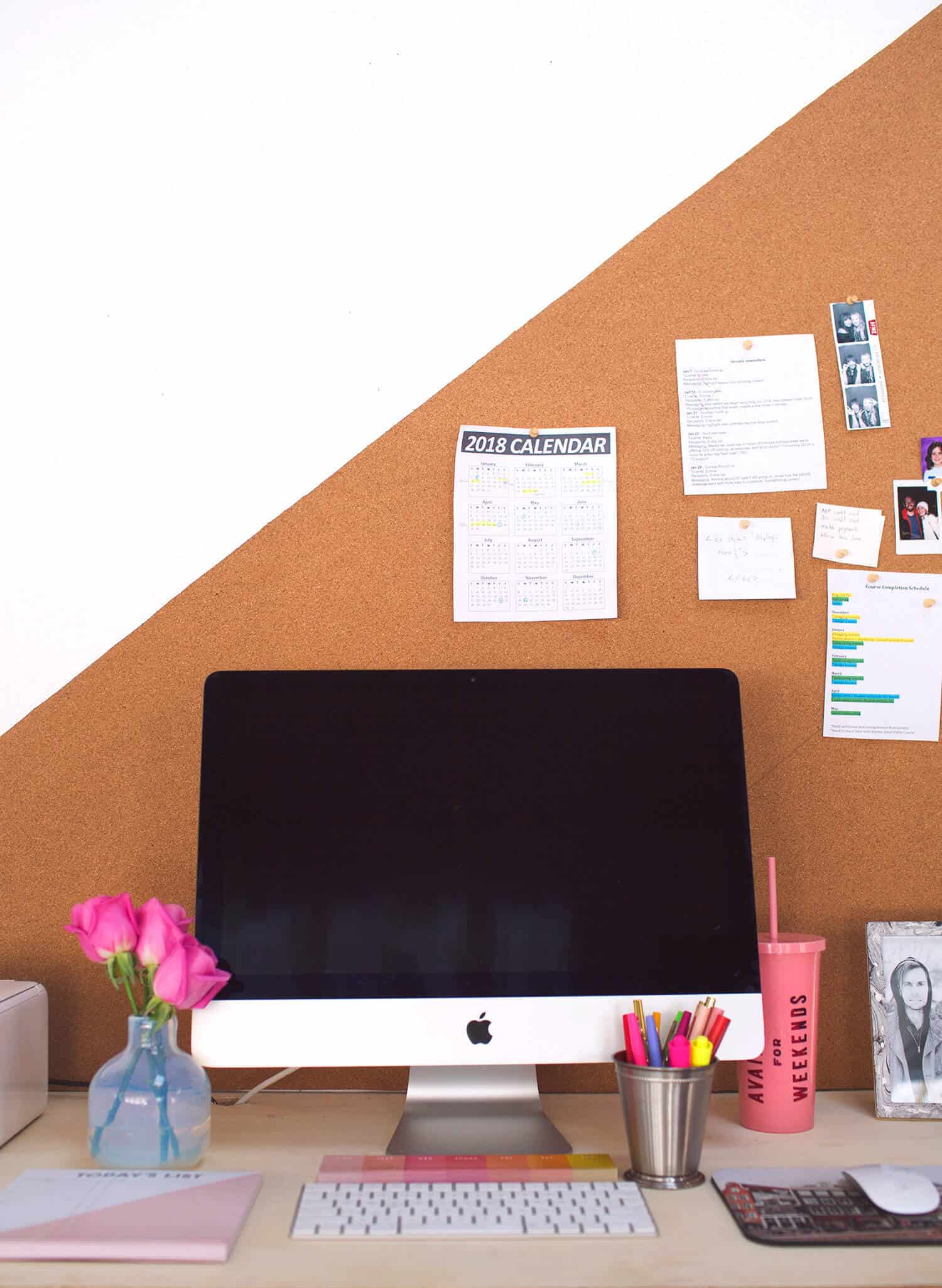Easy Diy Bulletin Board Any Shape Or Size A Beautiful Mess