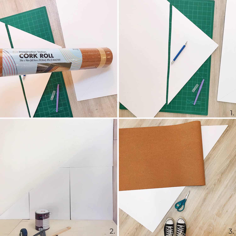 Einfache DIY Bulletin Board (beliebige Form oder Größe)