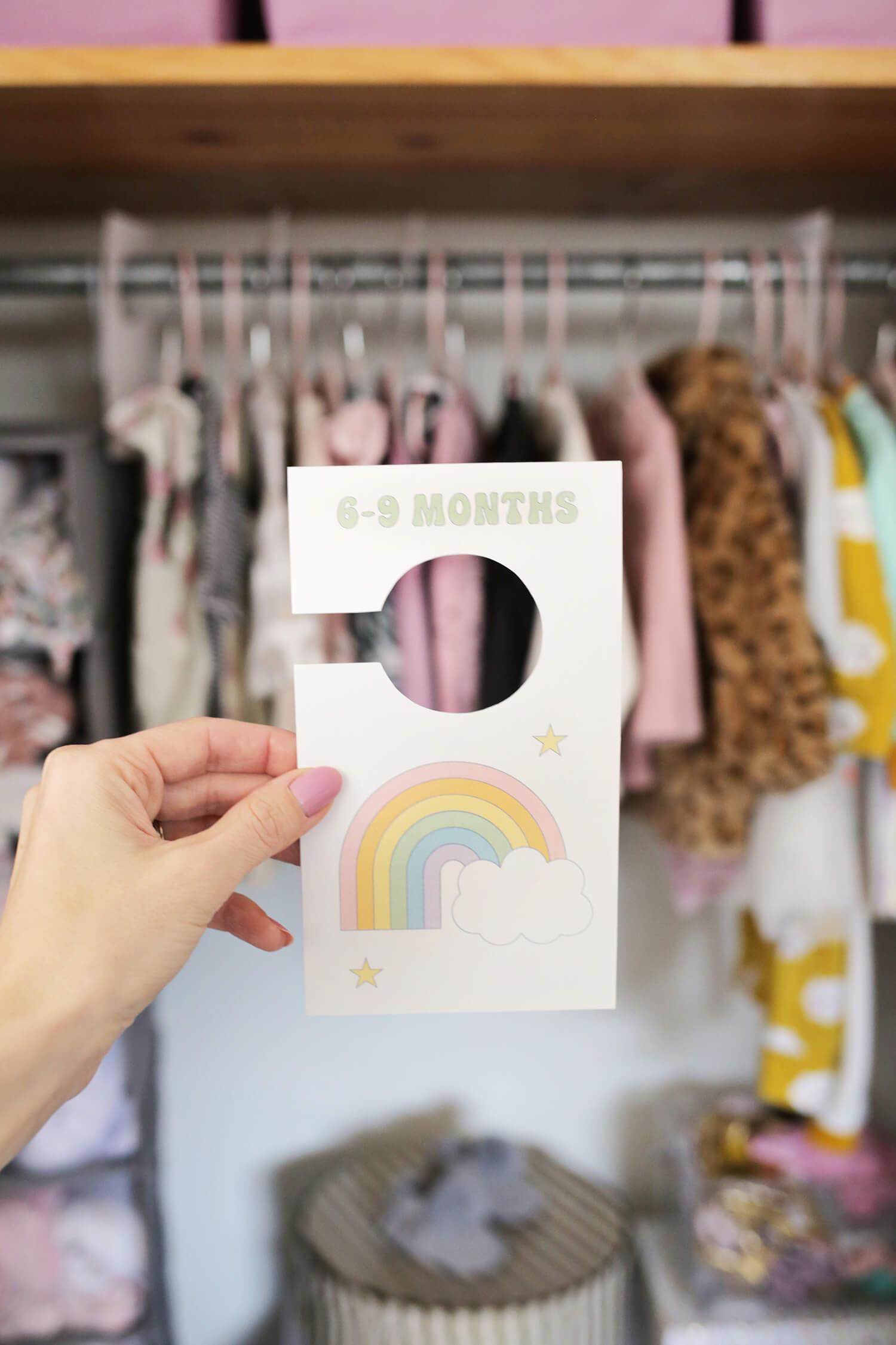 Nursery Closet Dividers (Free Printable!)