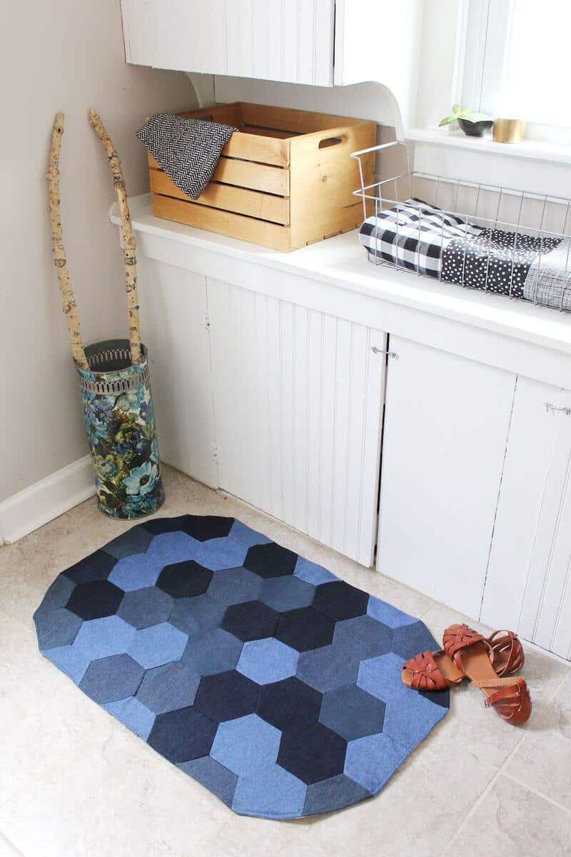 How to Sew a Denim Rug - A Beautiful Mess