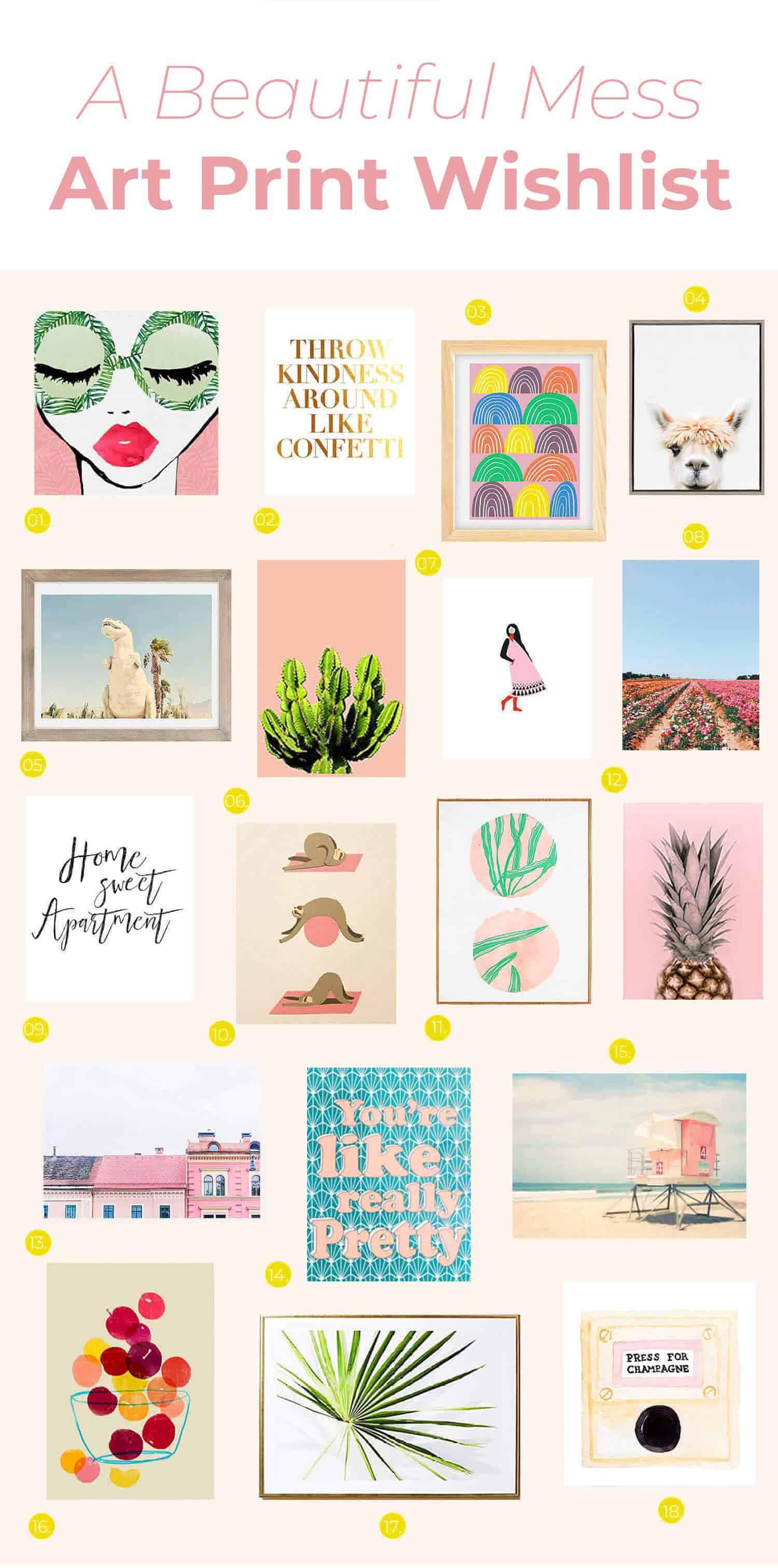 Ein schönes Durcheinander Kunstdruck Wunschliste