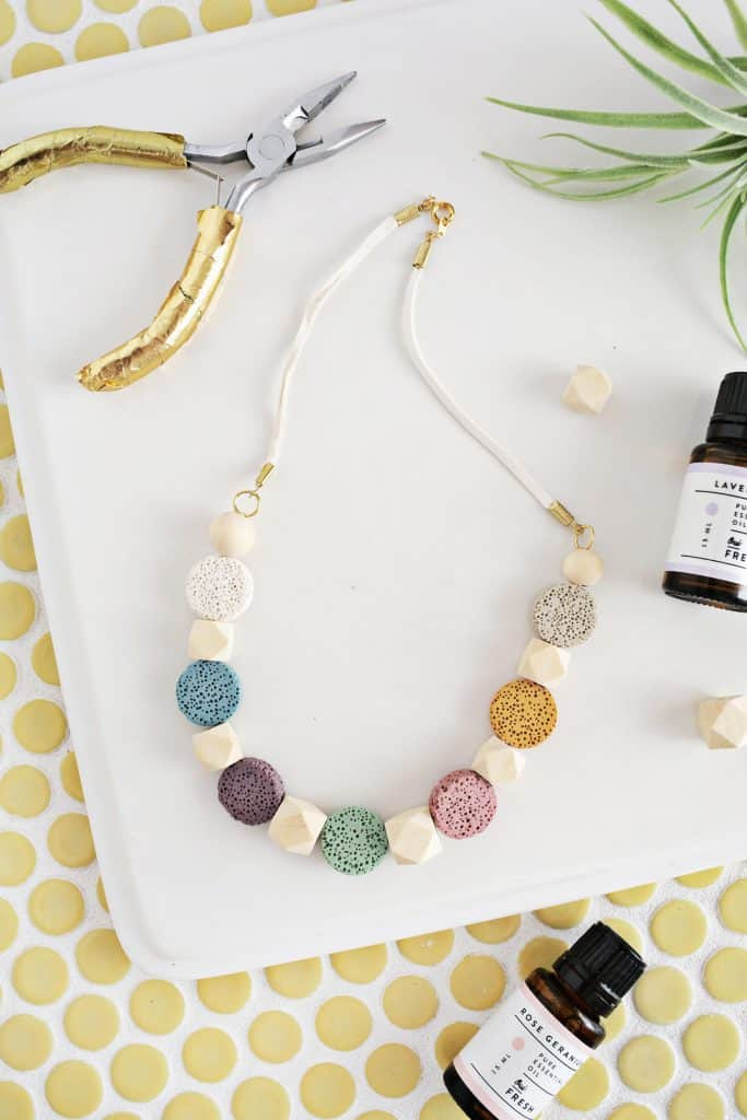 Lava Stone Necklace DIY (for Essential Oils) - A Beautiful