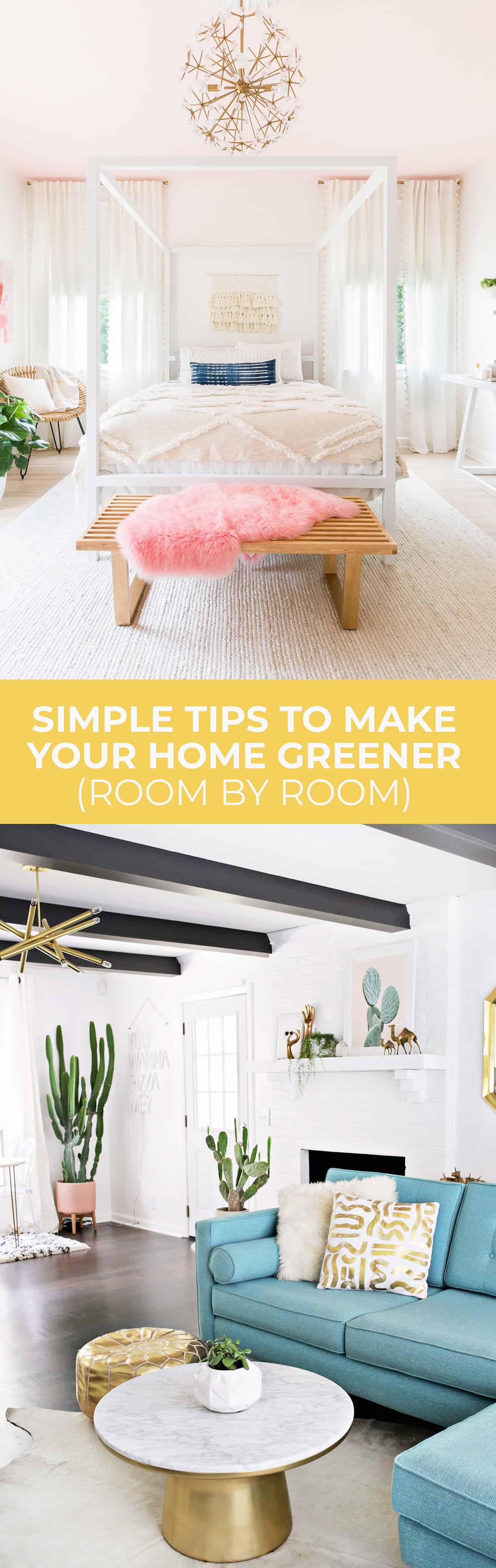 Einfache Tipps für ein umweltfreundlicheres Zuhause (Raum für Raum!)