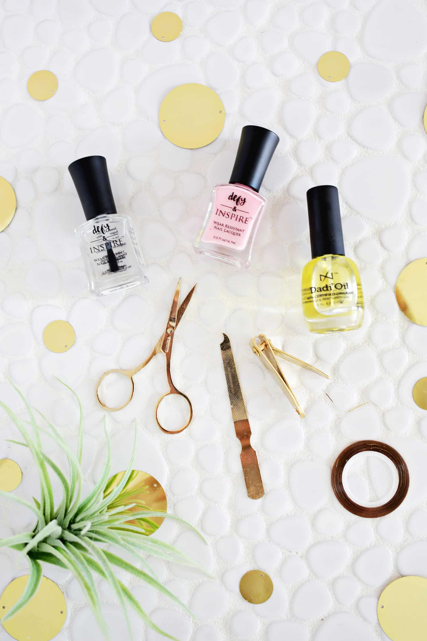 Easy Gold Stripe Nail Tutorial - A Beautiful Mess