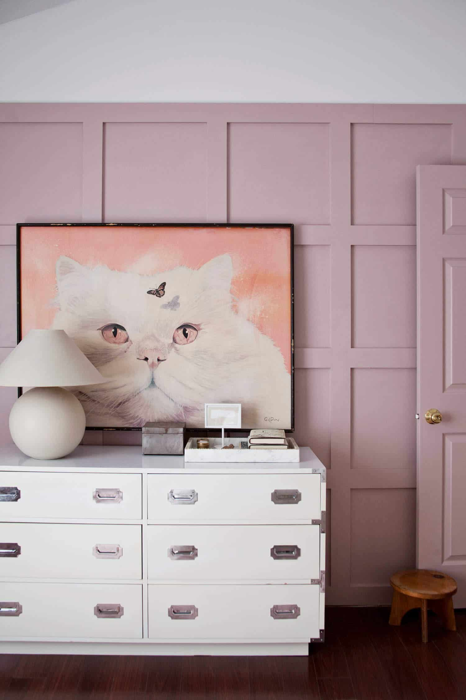 Pink Board and Batten Bedroom Makeover
