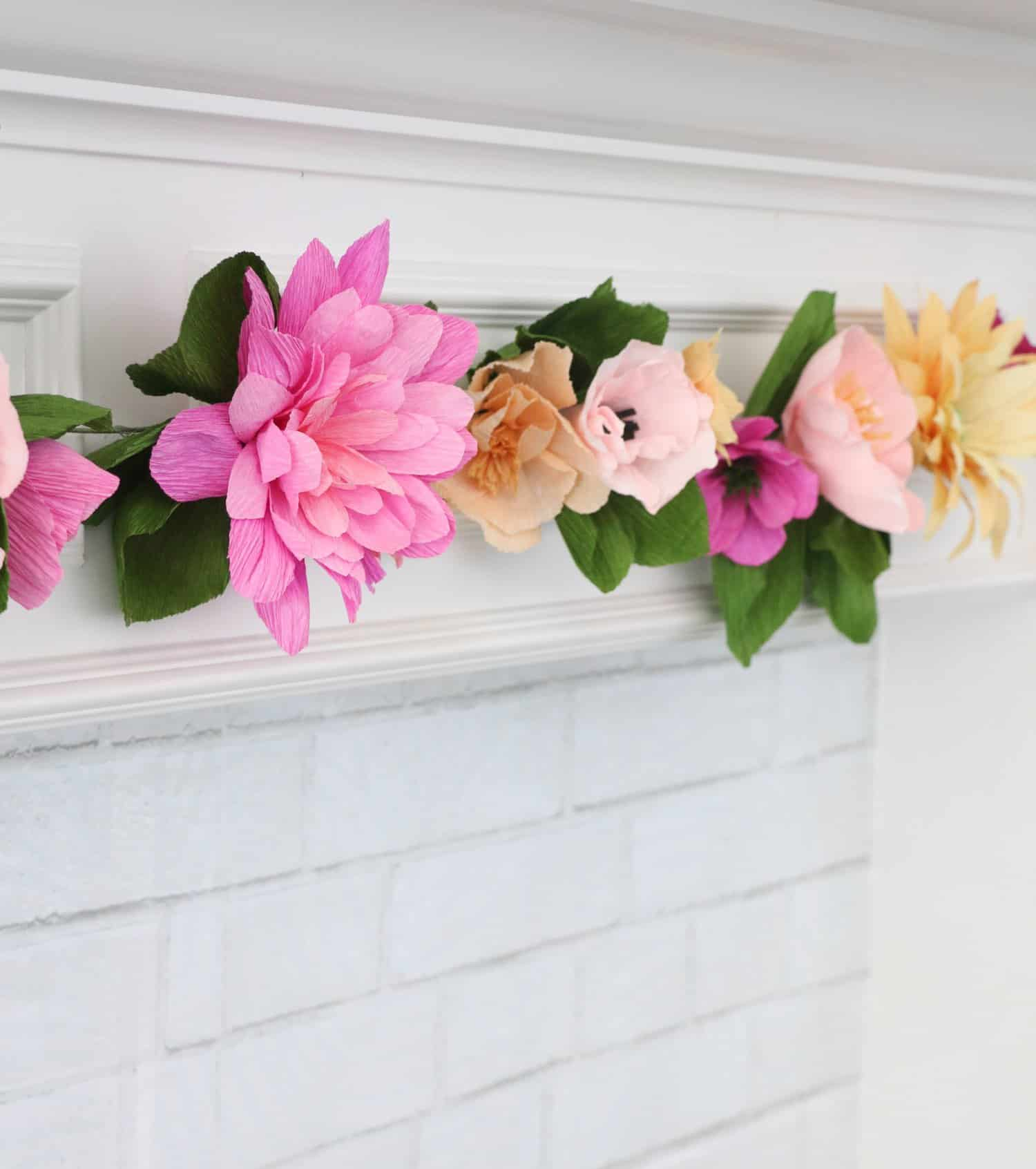 Make a crepe paper flower garland a beautiful mess make a crepe paper flower garland 8 mightylinksfo