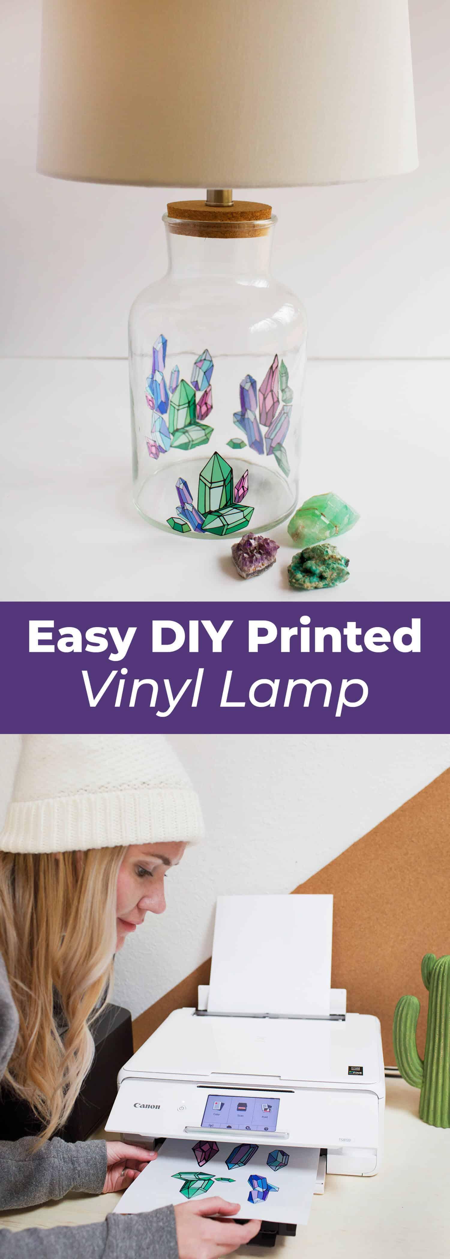 Einfach bedruckte Vinyllampe