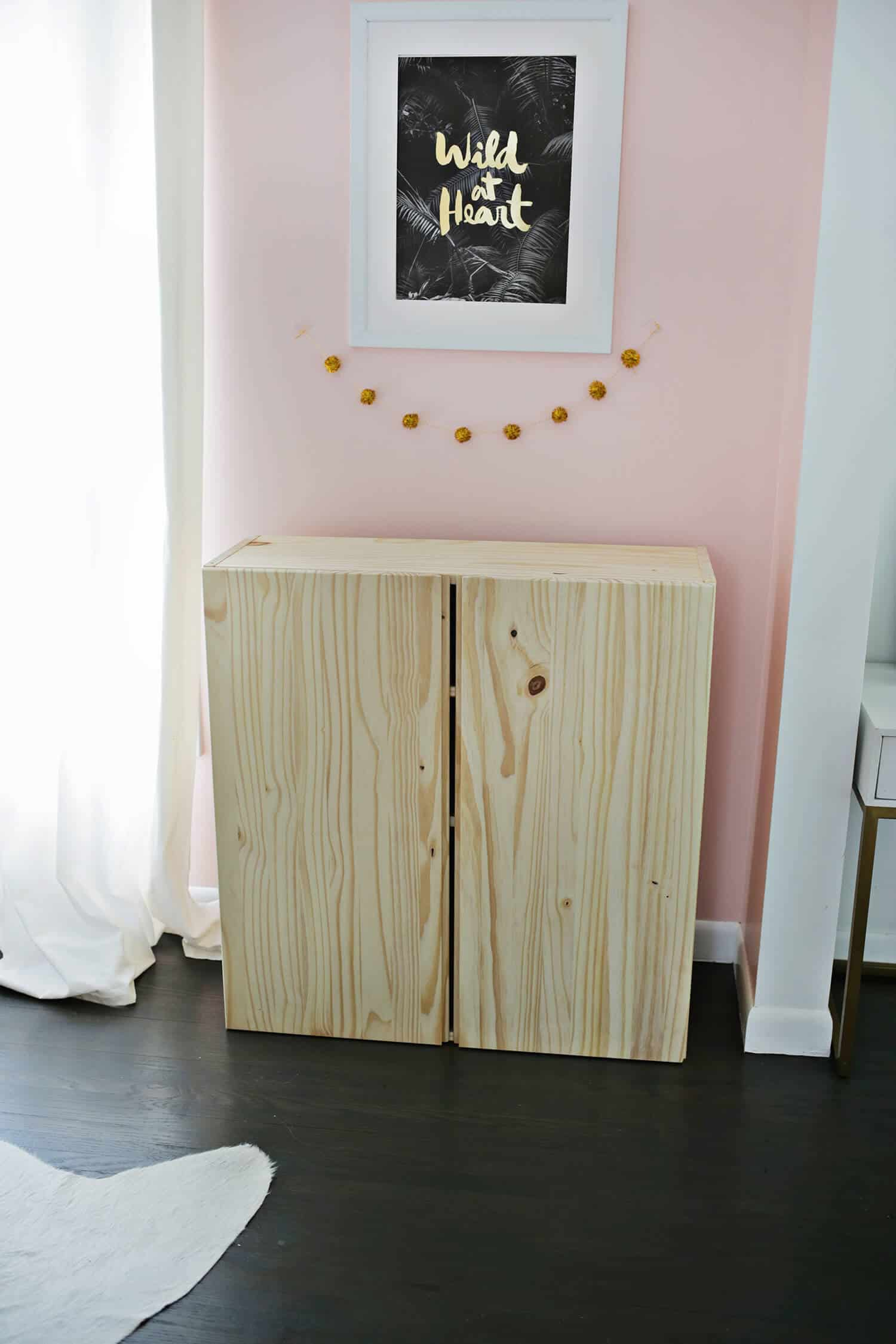 ikea ivar cabinet hack turned into a bar cabinet a beautiful mess. Black Bedroom Furniture Sets. Home Design Ideas