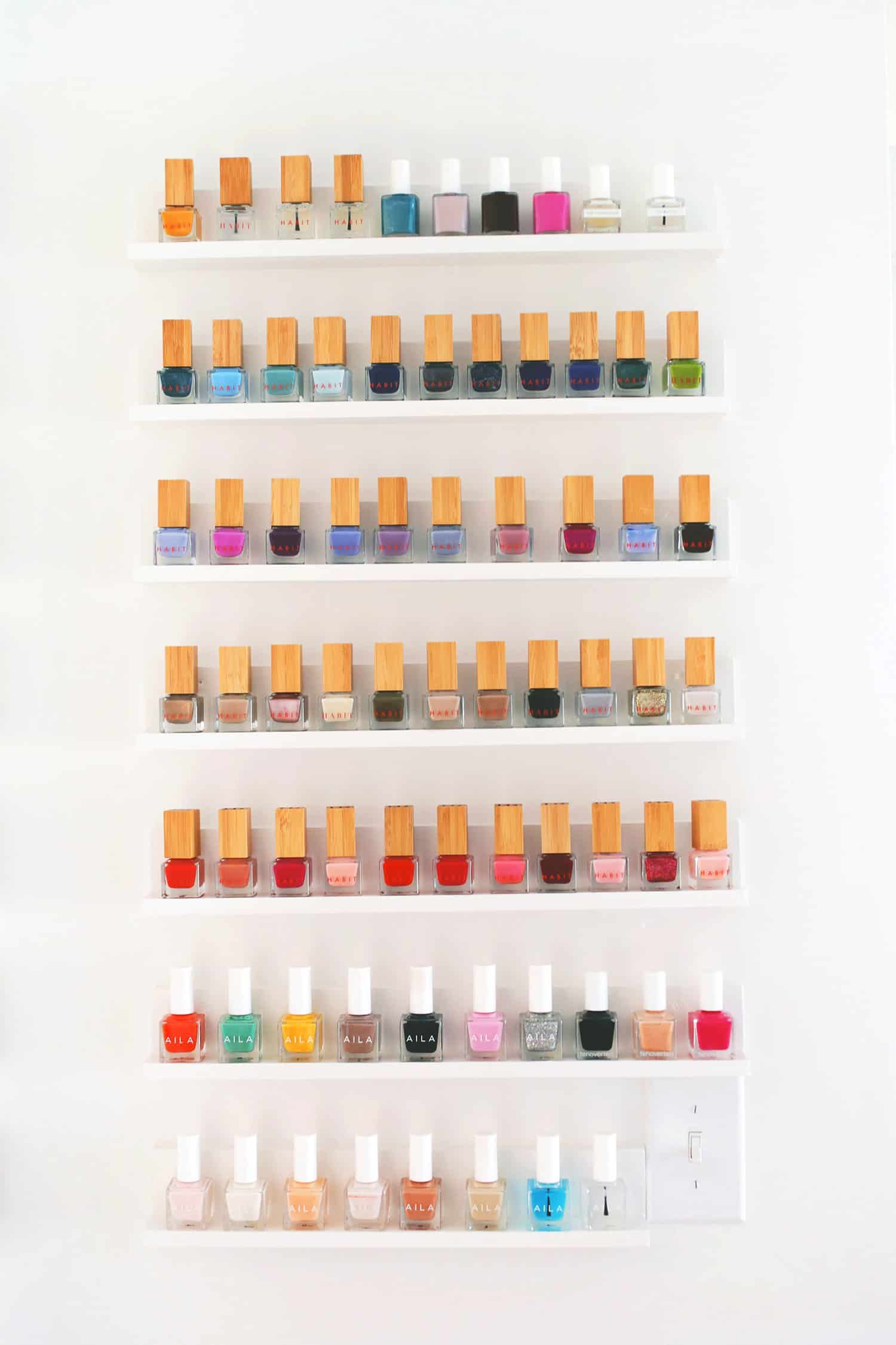 20 ways to keep your home organized a beautiful mess for Diy shoes with nail polish