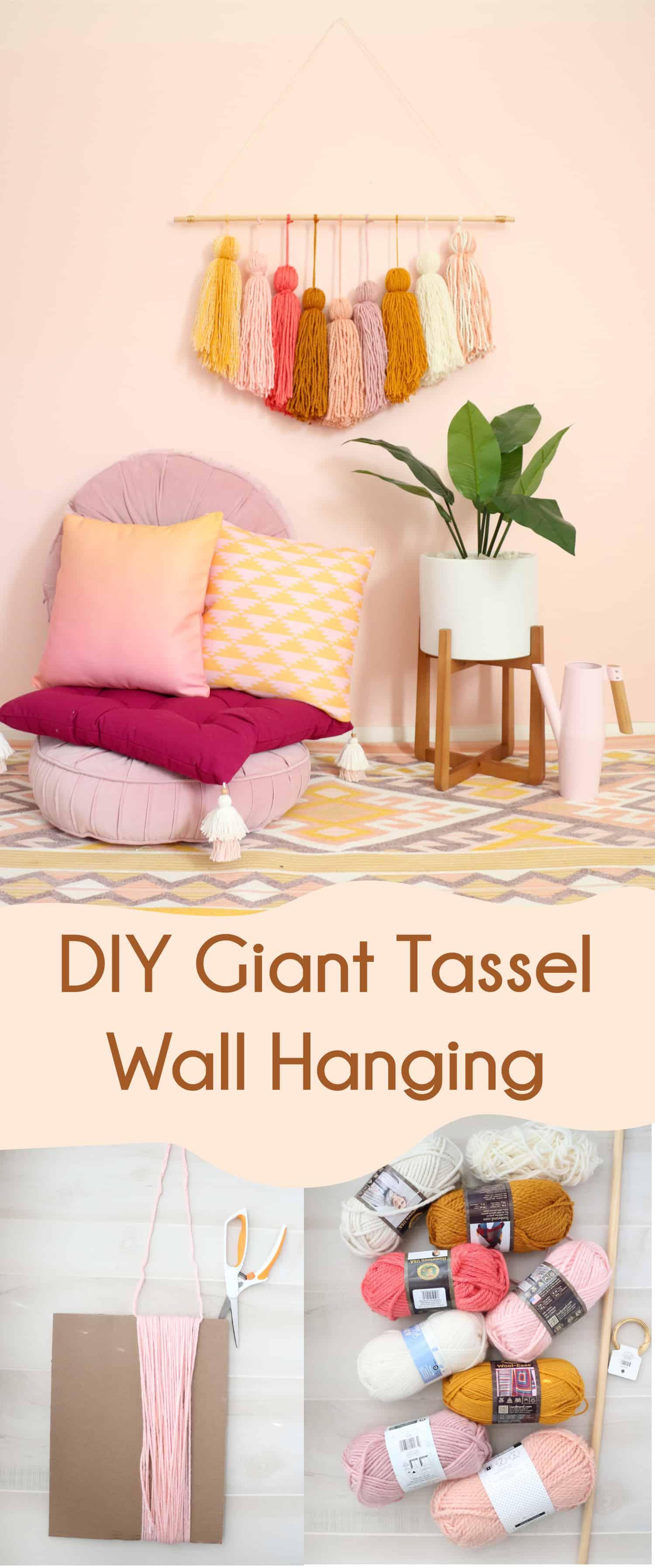 DIY Riesen Quaste Wandbehang